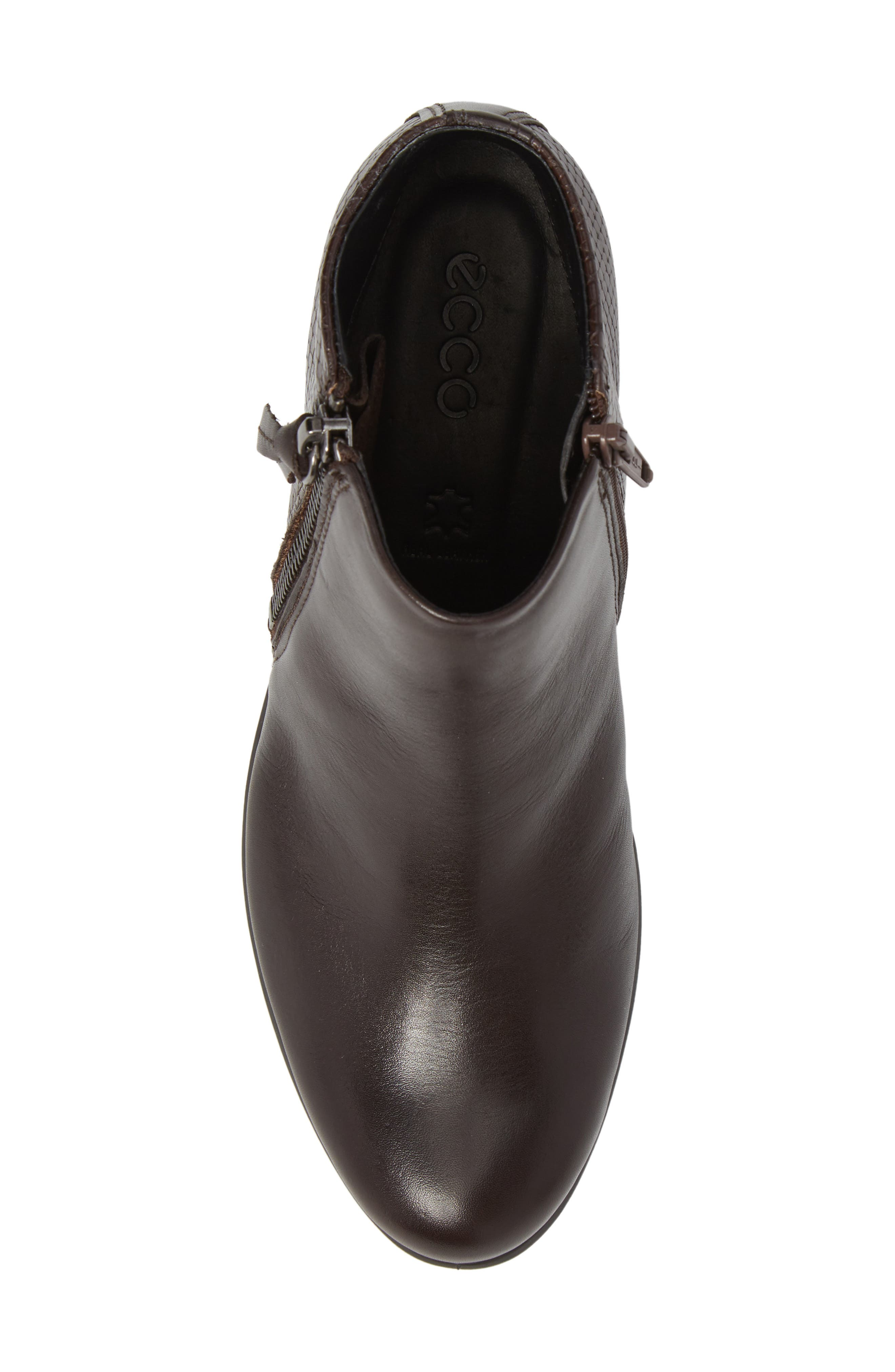 'Touch' Zip Bootie,                             Alternate thumbnail 5, color,                             Coffee Leather