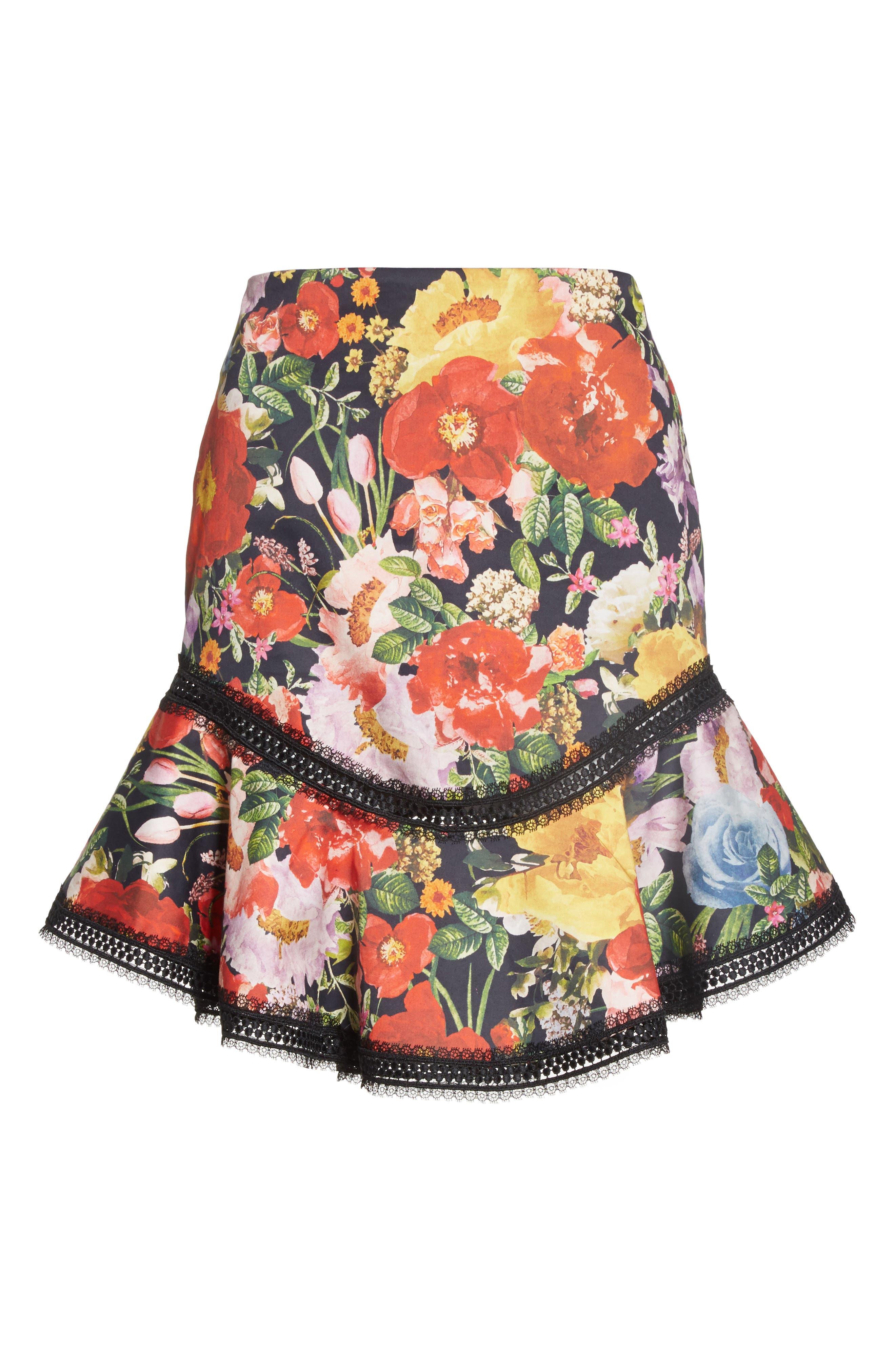 Floral Skirt,                             Alternate thumbnail 6, color,                             Blooming Garden