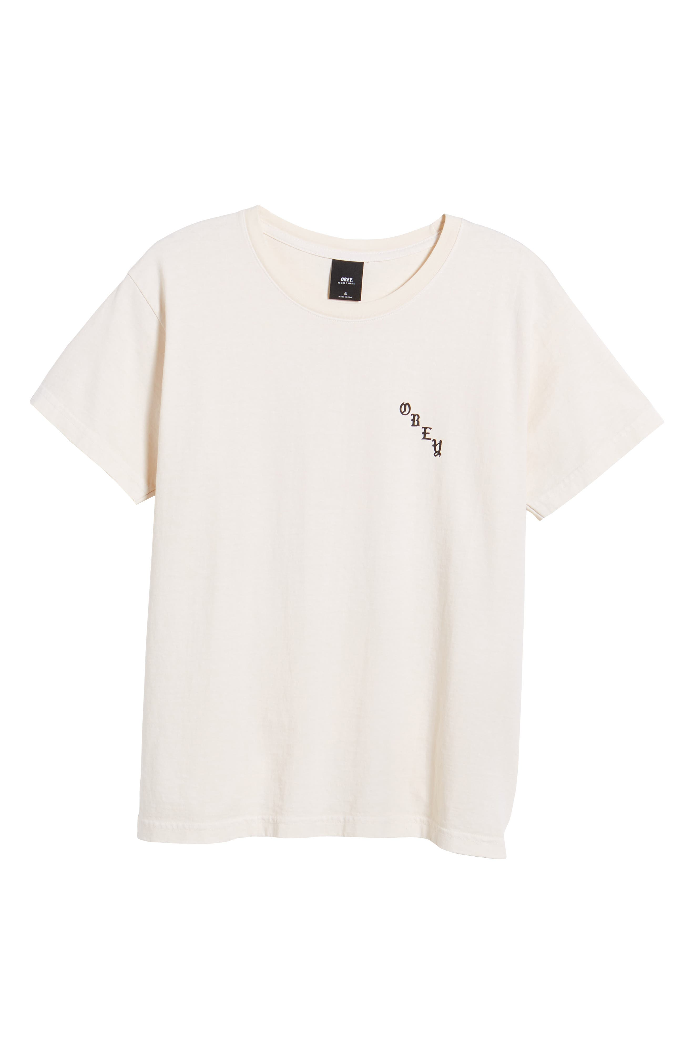 Slauson Rose Graphic Tee,                             Alternate thumbnail 6, color,                             Creme