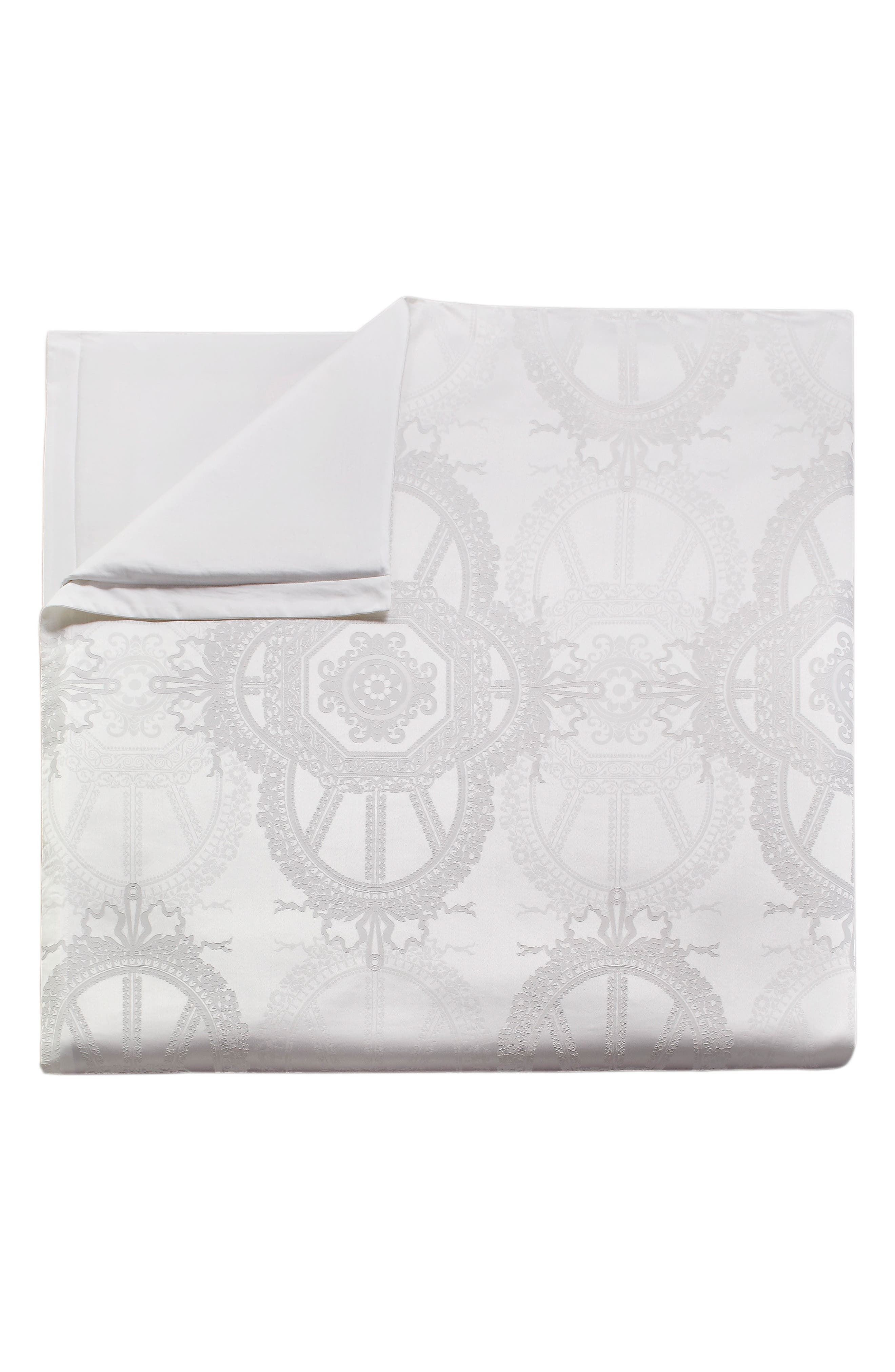 Versailles Comforter & Sham Set,                             Alternate thumbnail 9, color,                             White