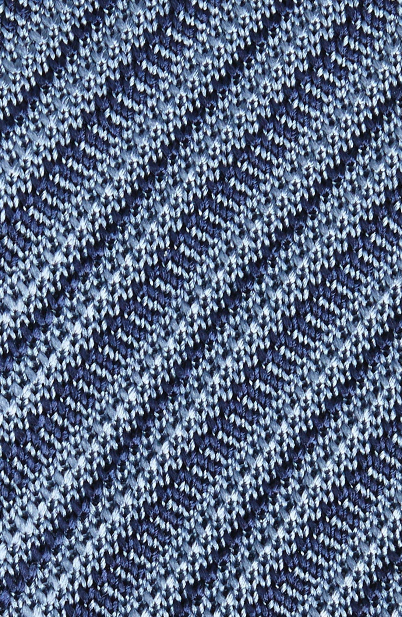 Alternate Image 2  - Brioni Stripe Knit Silk Skinny Tie
