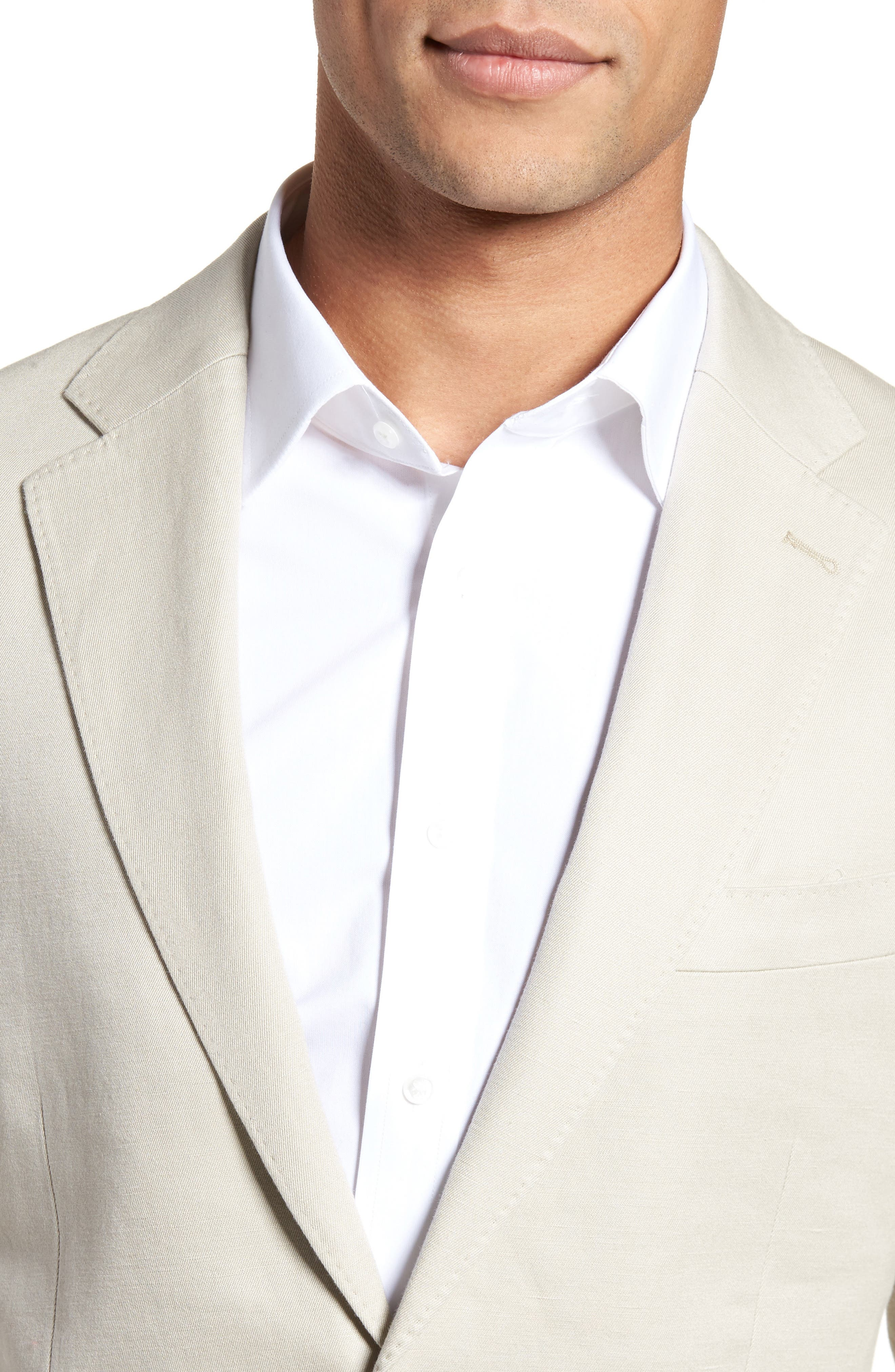 Maxwell Valley Cotton & Linen Sport Coat,                             Alternate thumbnail 4, color,                             Natural