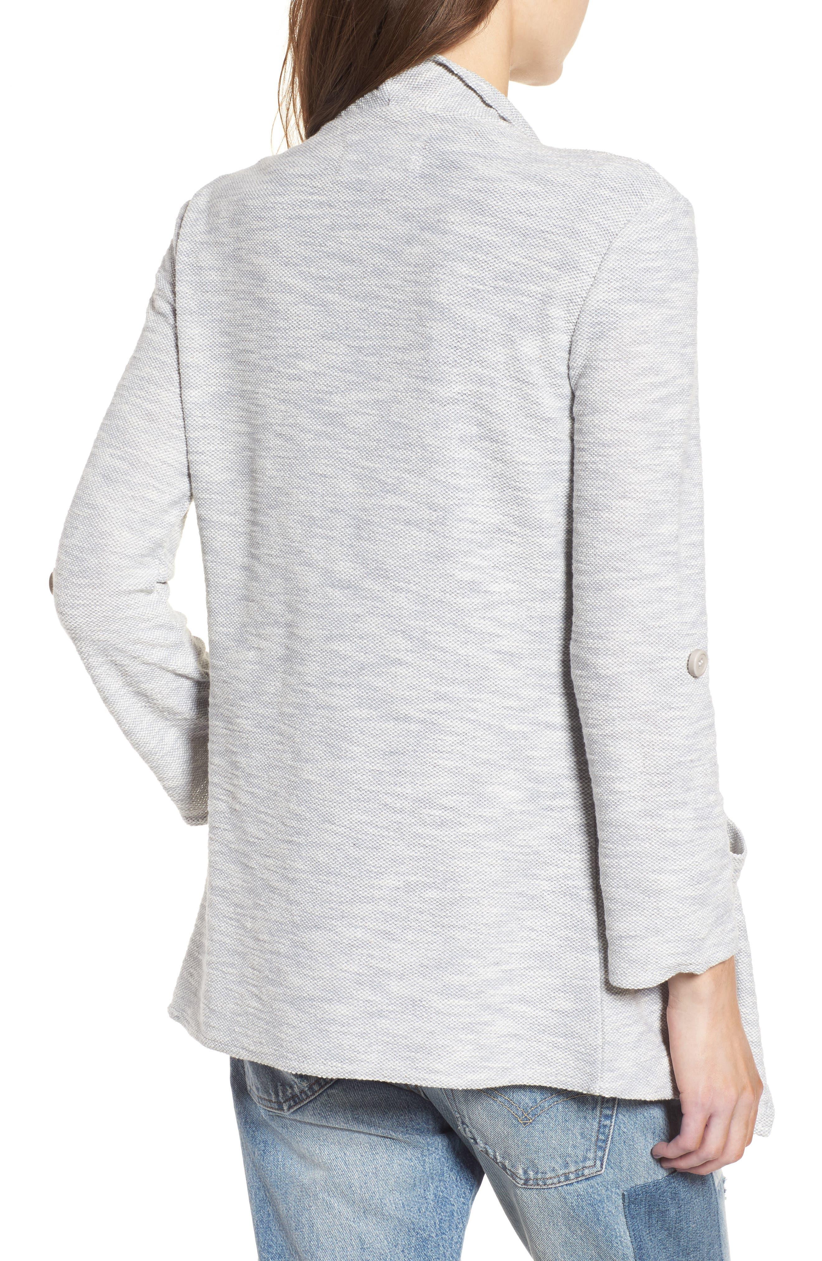 Kris Drape Front Knit Jacket,                             Alternate thumbnail 2, color,                             Oatmeal