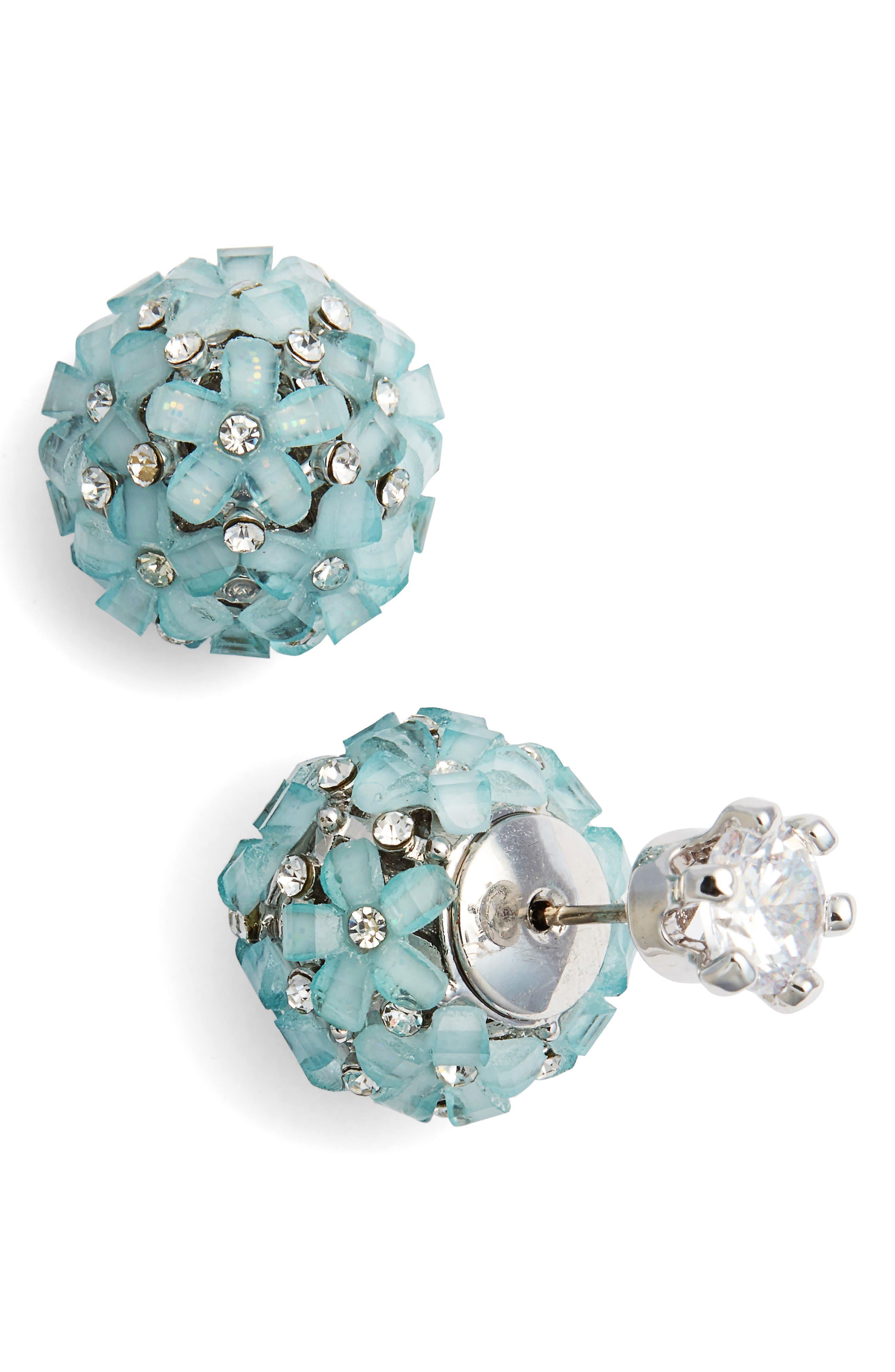 Nina Front to Back Flower Ball Earrings