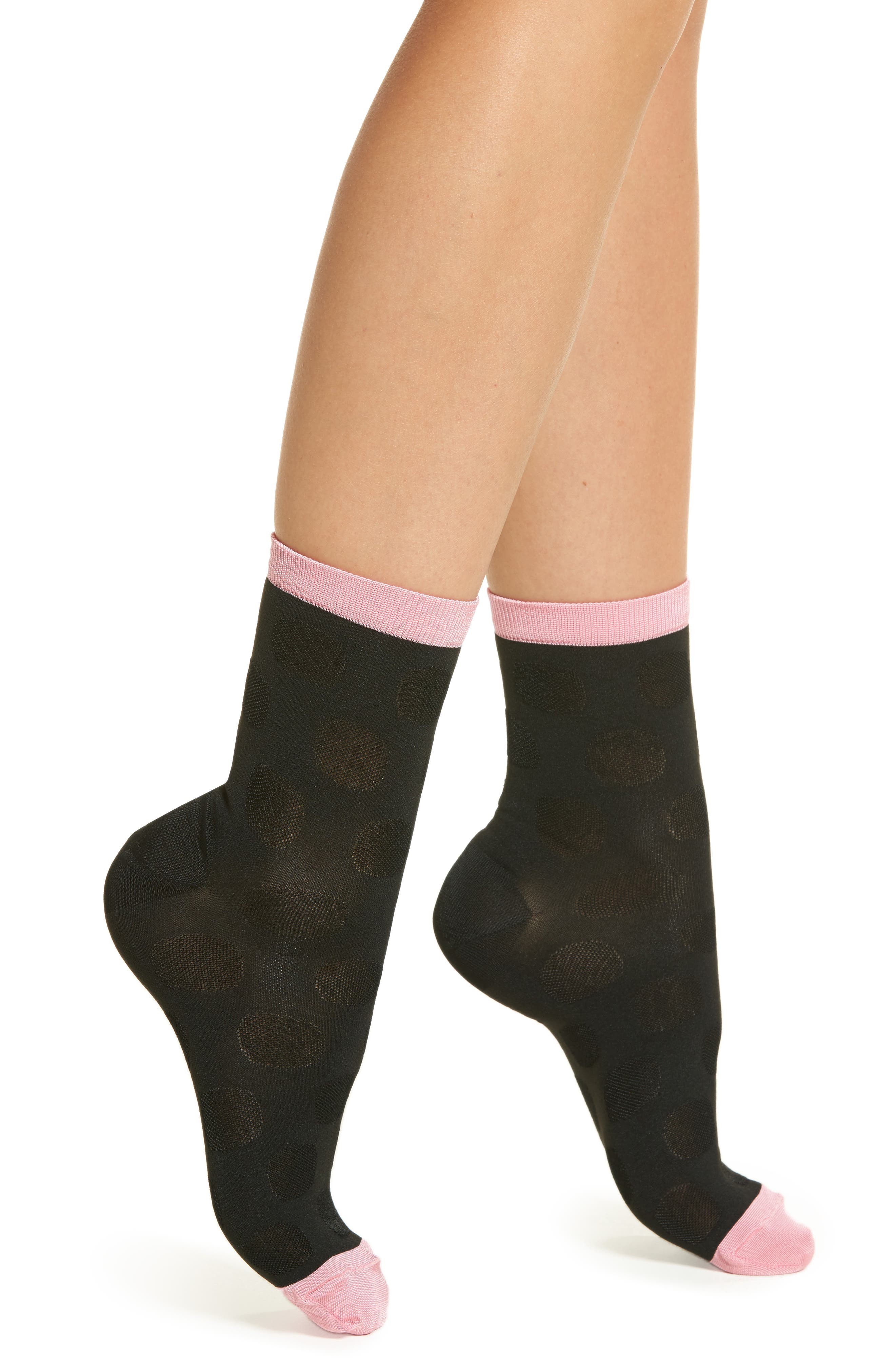 Viktoria Ankle Socks,                             Main thumbnail 1, color,                             Black