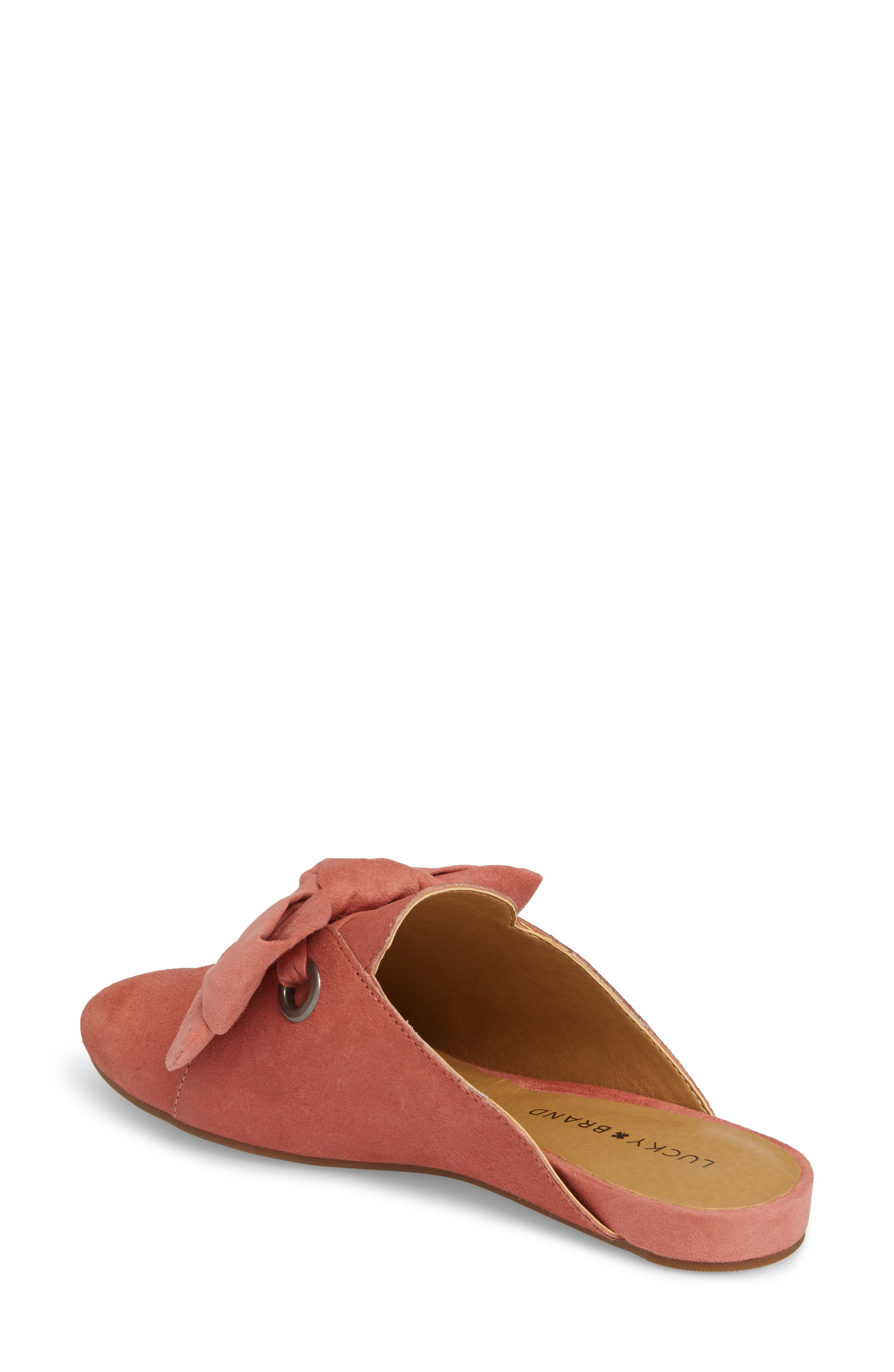 Florean Bow Loafer Mule,                             Alternate thumbnail 2, color,                             Canyon Rose Leather