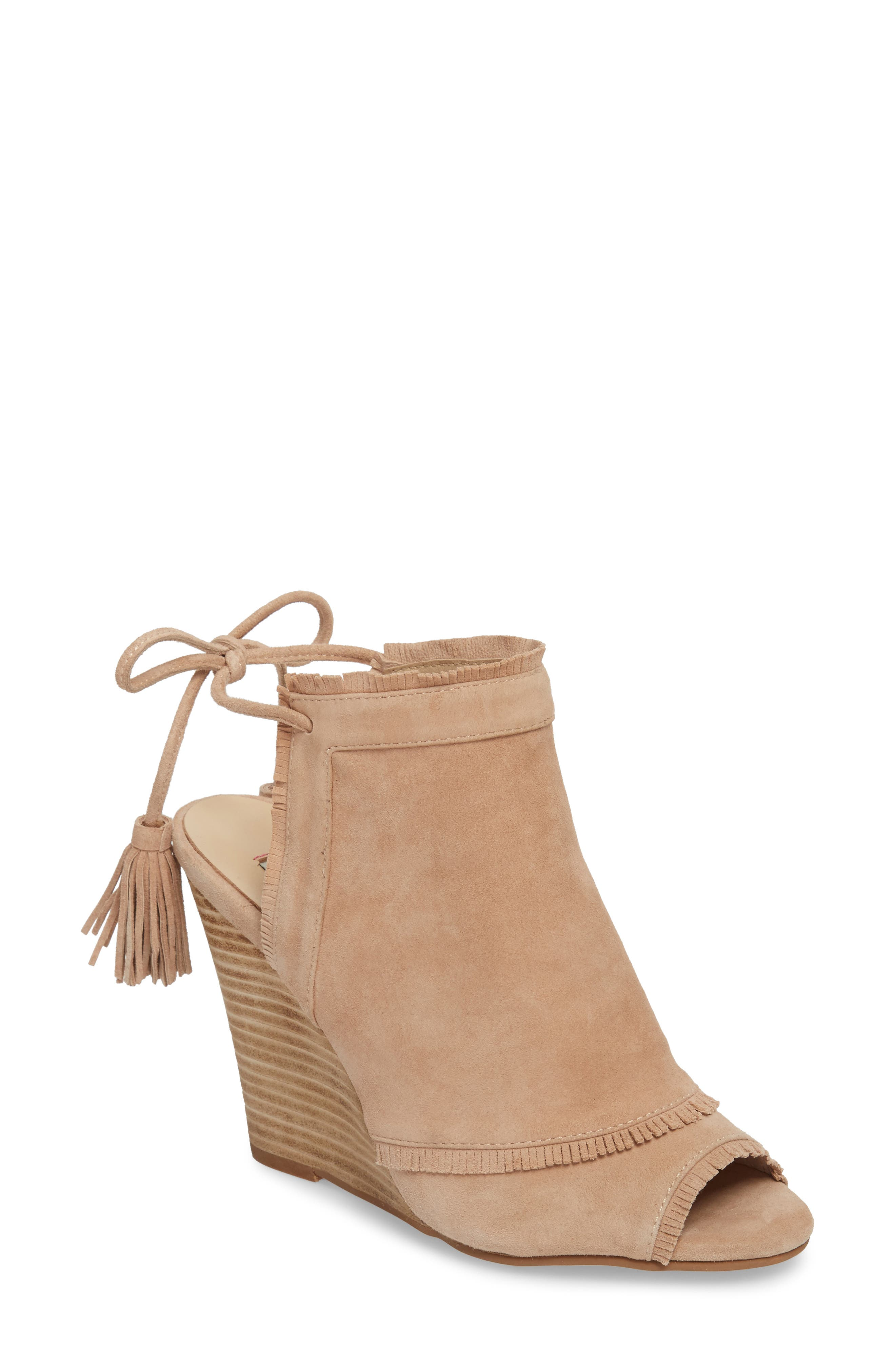 Leilani Wedge,                             Main thumbnail 1, color,                             Tigers Eye Suede