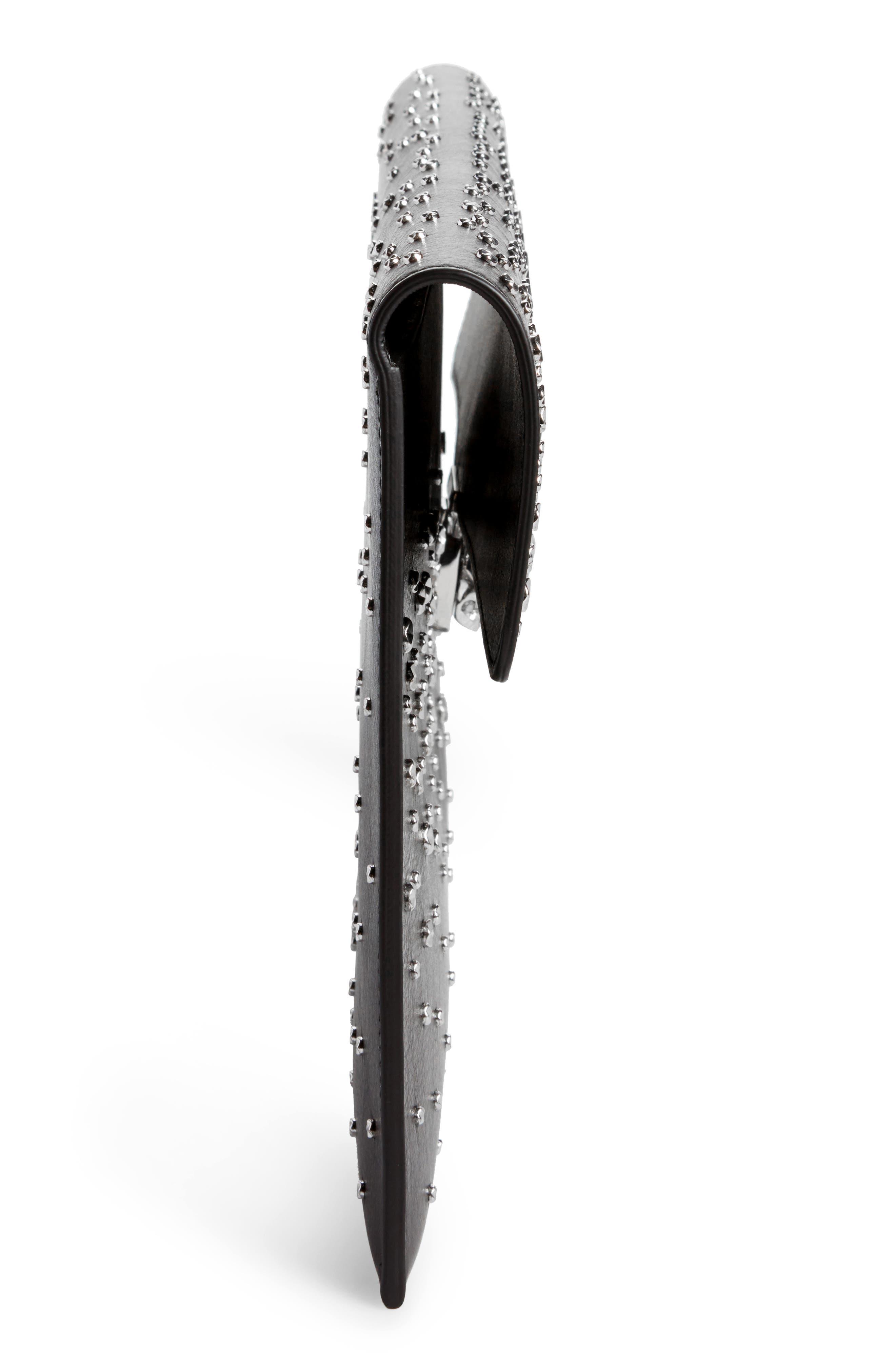 Alternate Image 5  - Alexander McQueen Studded Skull Closure Leather Envelope Clutch