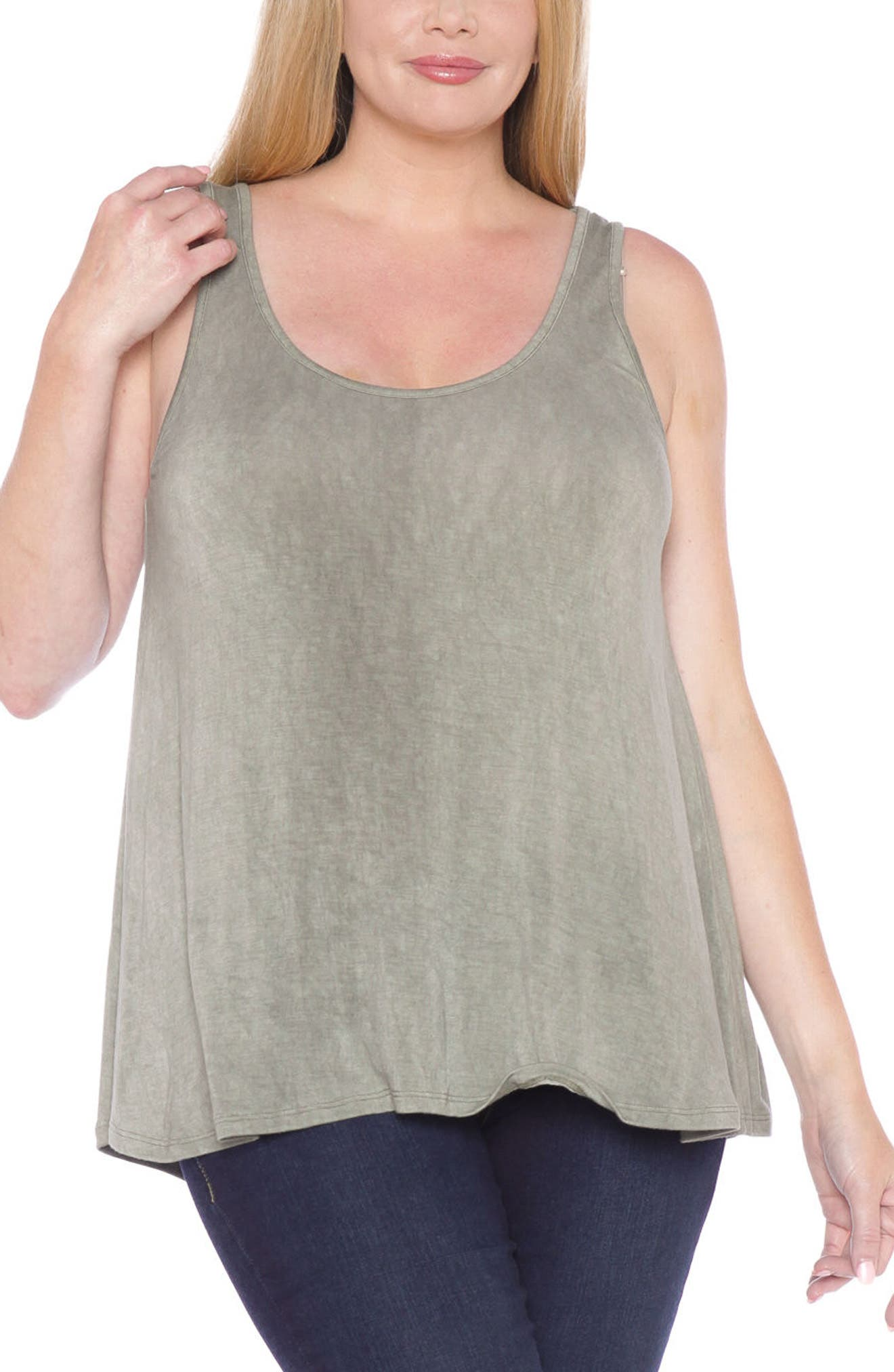Alternate Image 1 Selected - SLINK Jeans Scoop Neck Tank Top (Plus Size)