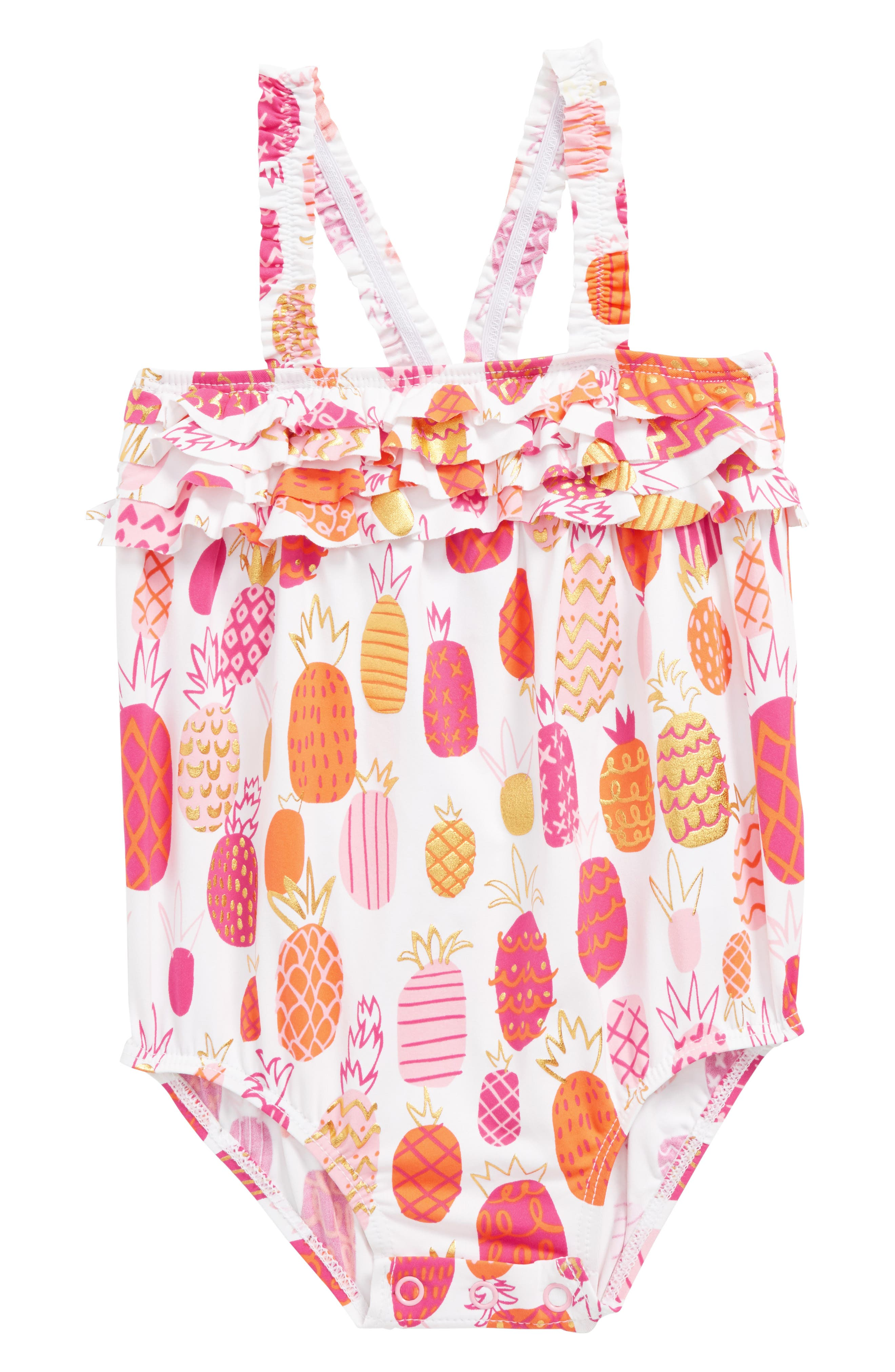 Alternate Image 1 Selected - Hatley Ruffled One-Piece Swimsuit (Baby Girls)