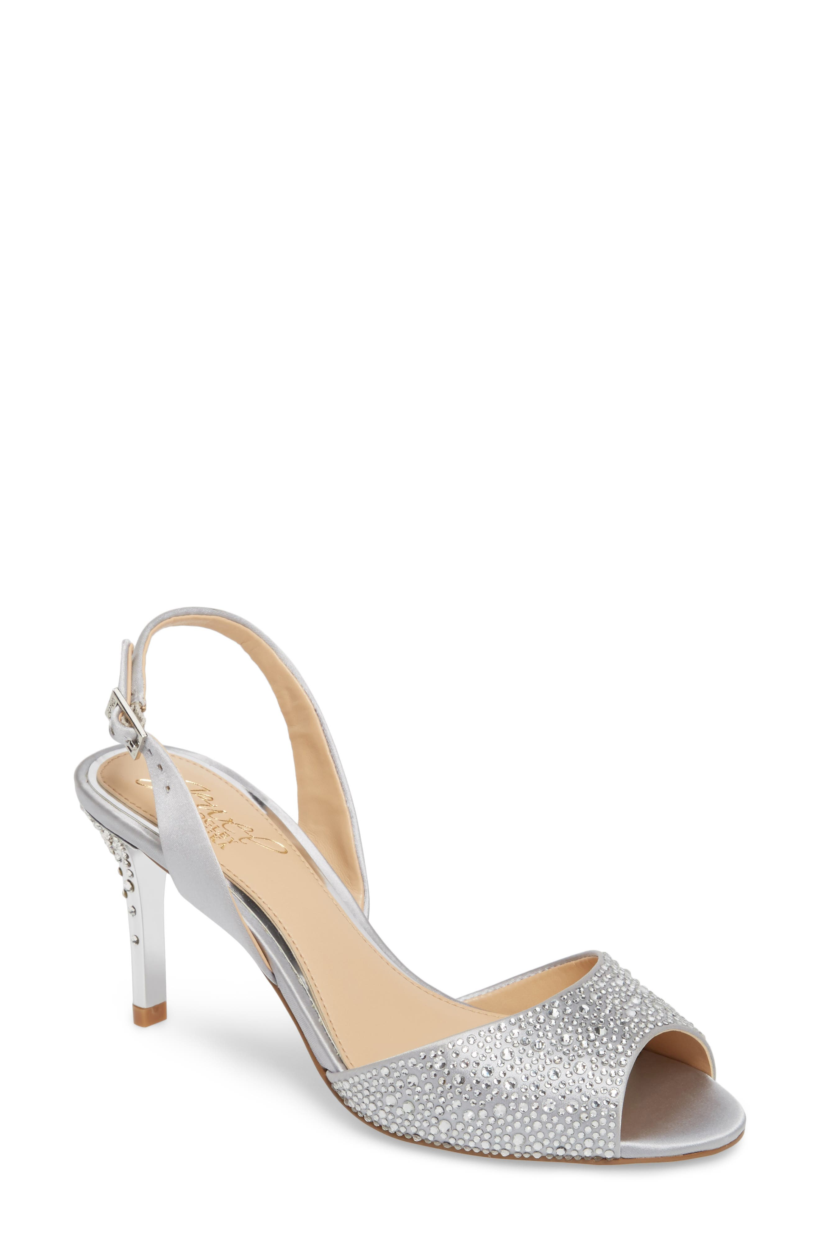 Jewel Badgley Mischka Tanner Slingback Sandal (Women)