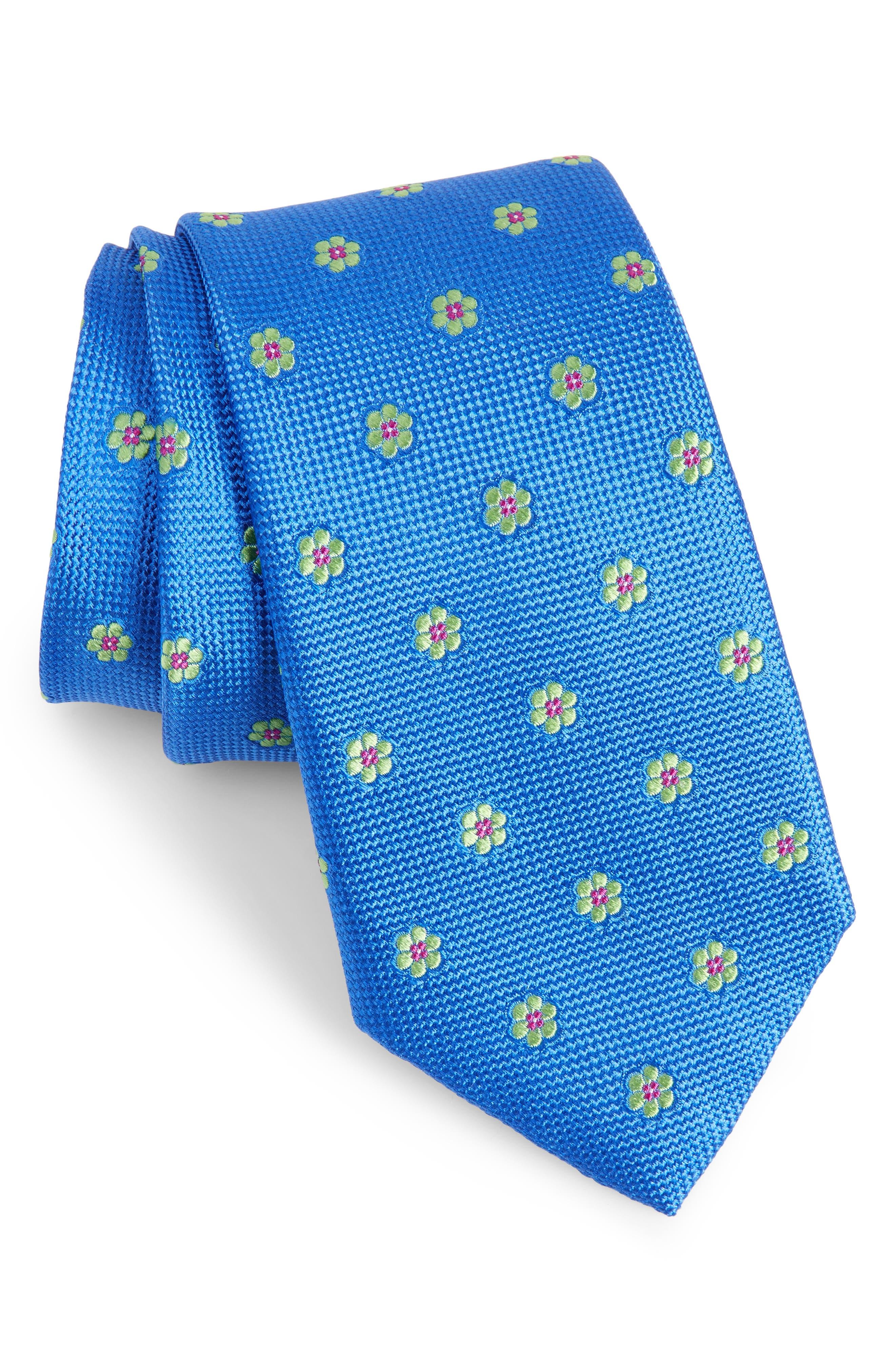 Calibrate Cloisters Neat Silk Tie,                         Main,                         color, Cornflower