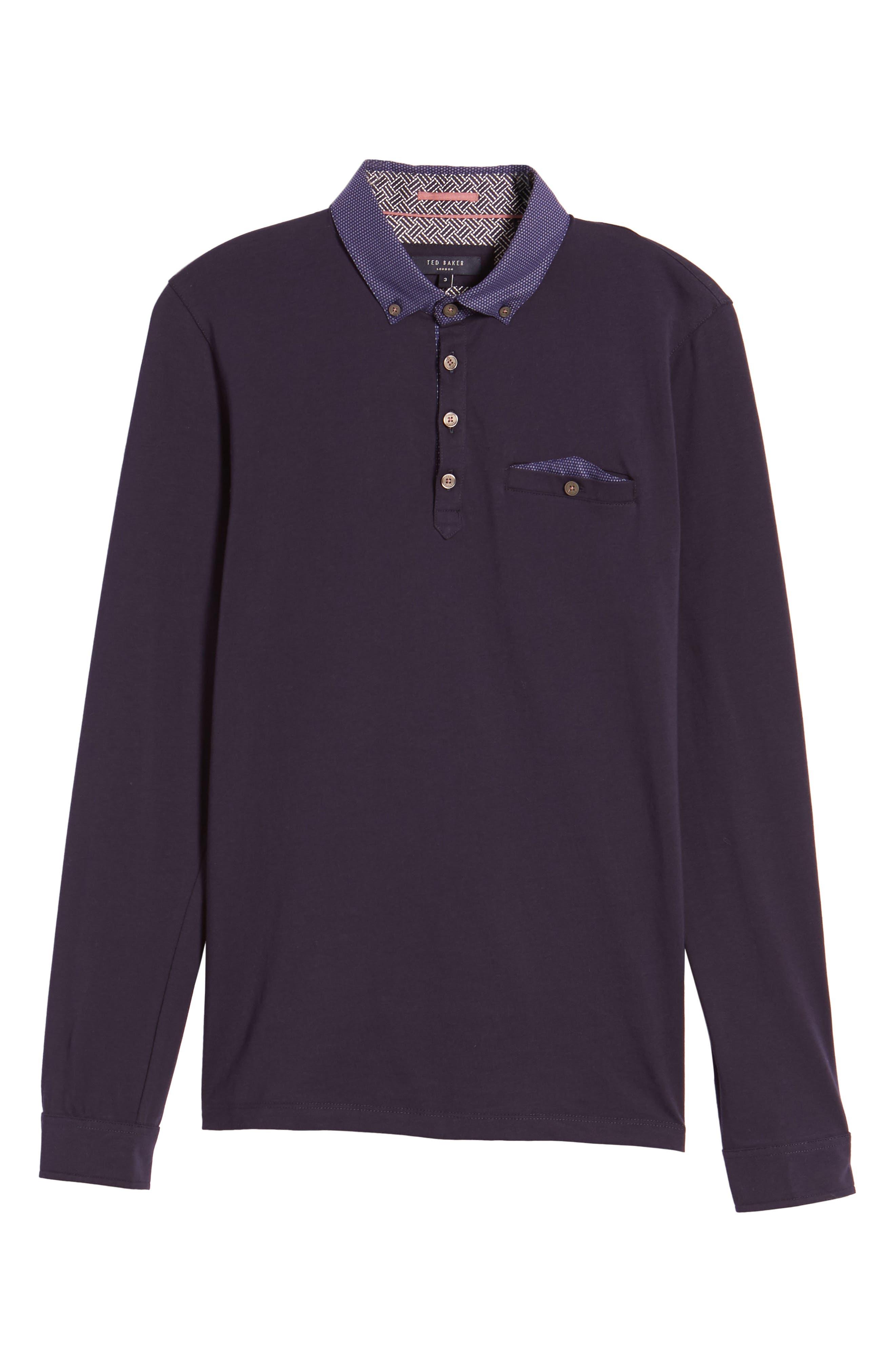 Spresso Long Sleeve Polo,                         Main,                         color, Navy