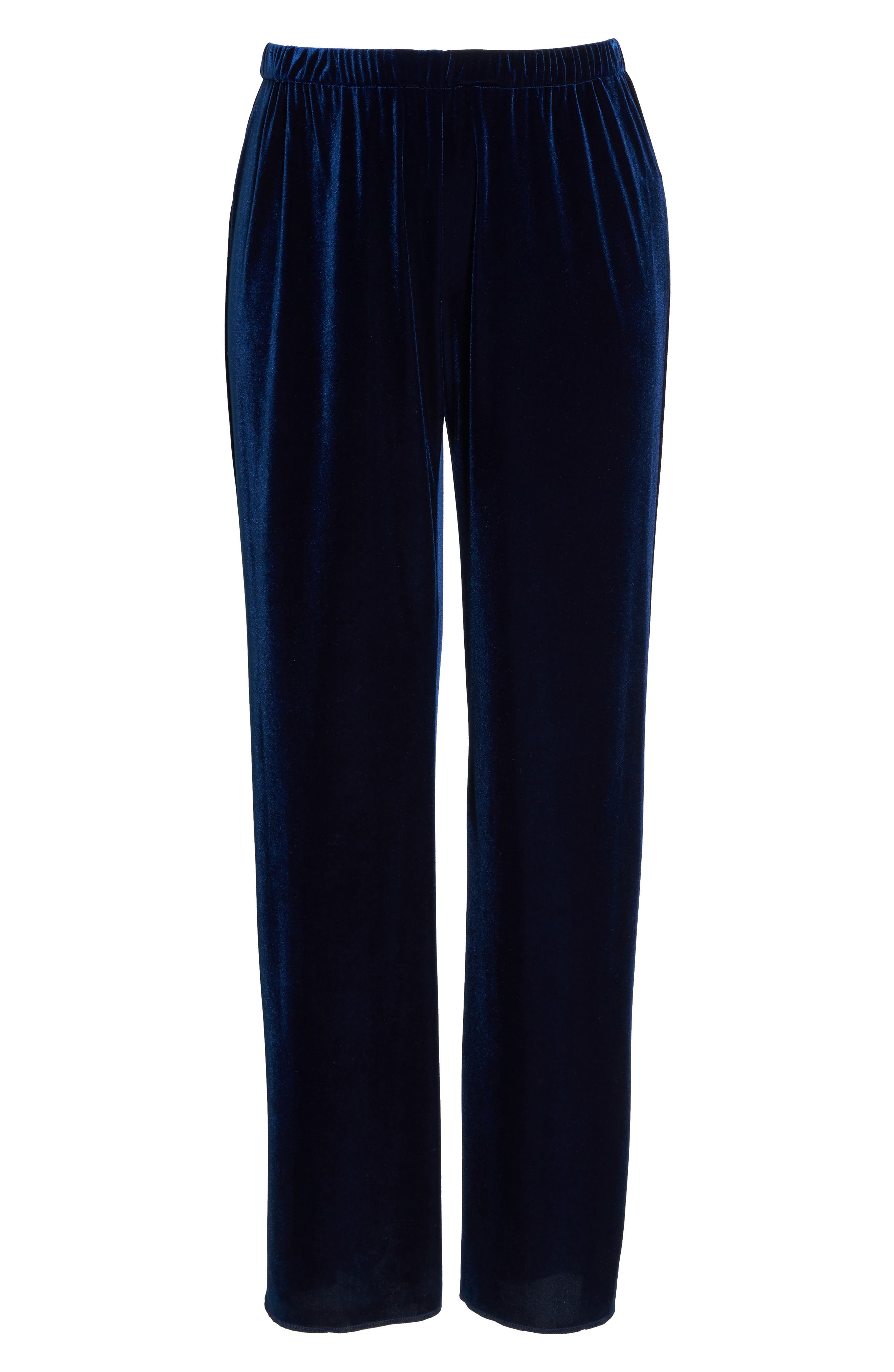 Rosita Velour Pants,                             Alternate thumbnail 6, color,                             Dark Navy