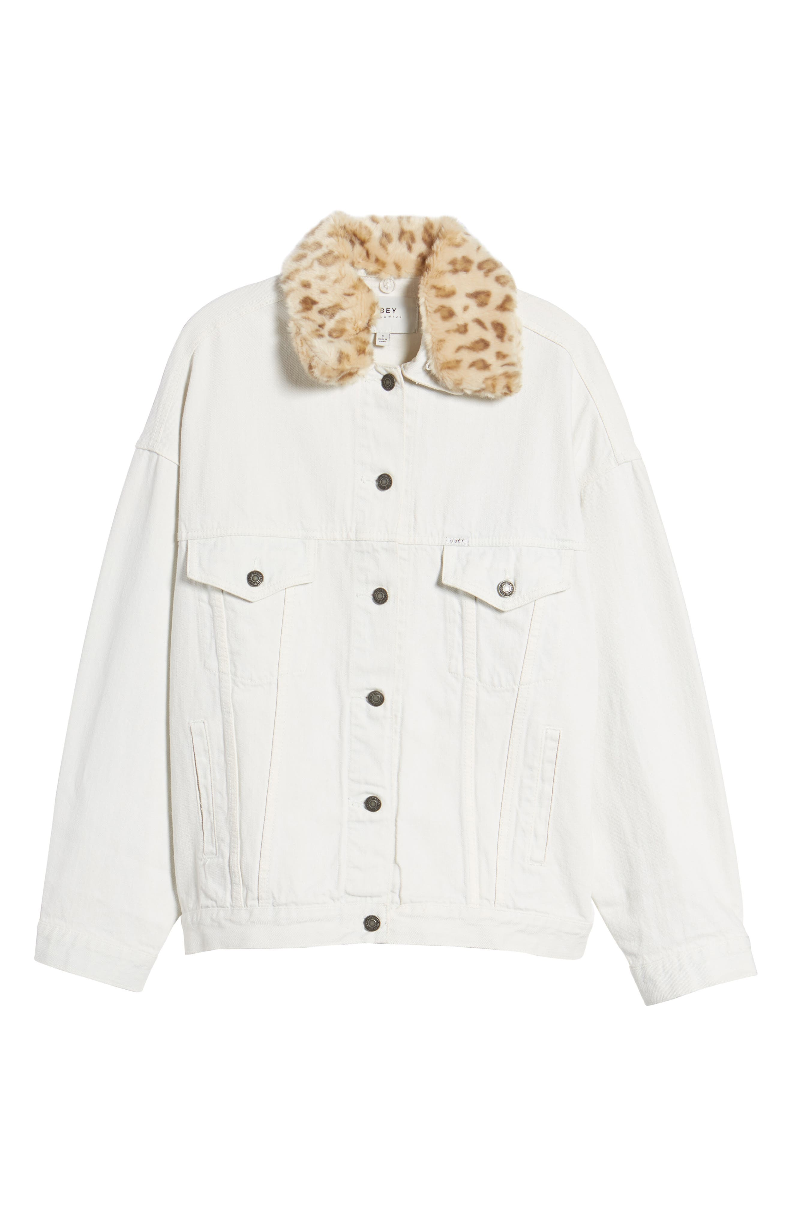 Alternate Image 6  - Obey Wily Rider Jacket with Removable Faux Fur Collar