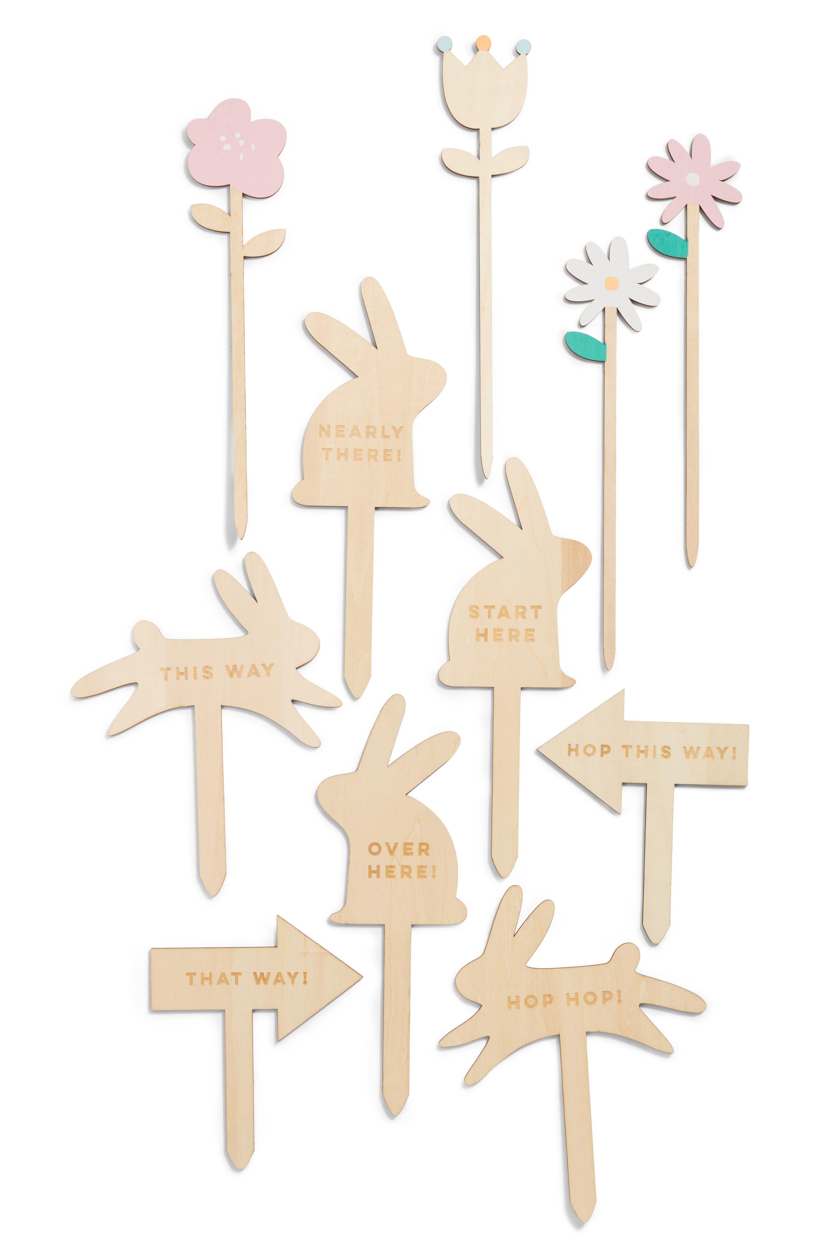 Meri Meri 11-Piece Wooden Easter Egg Hunt Kit