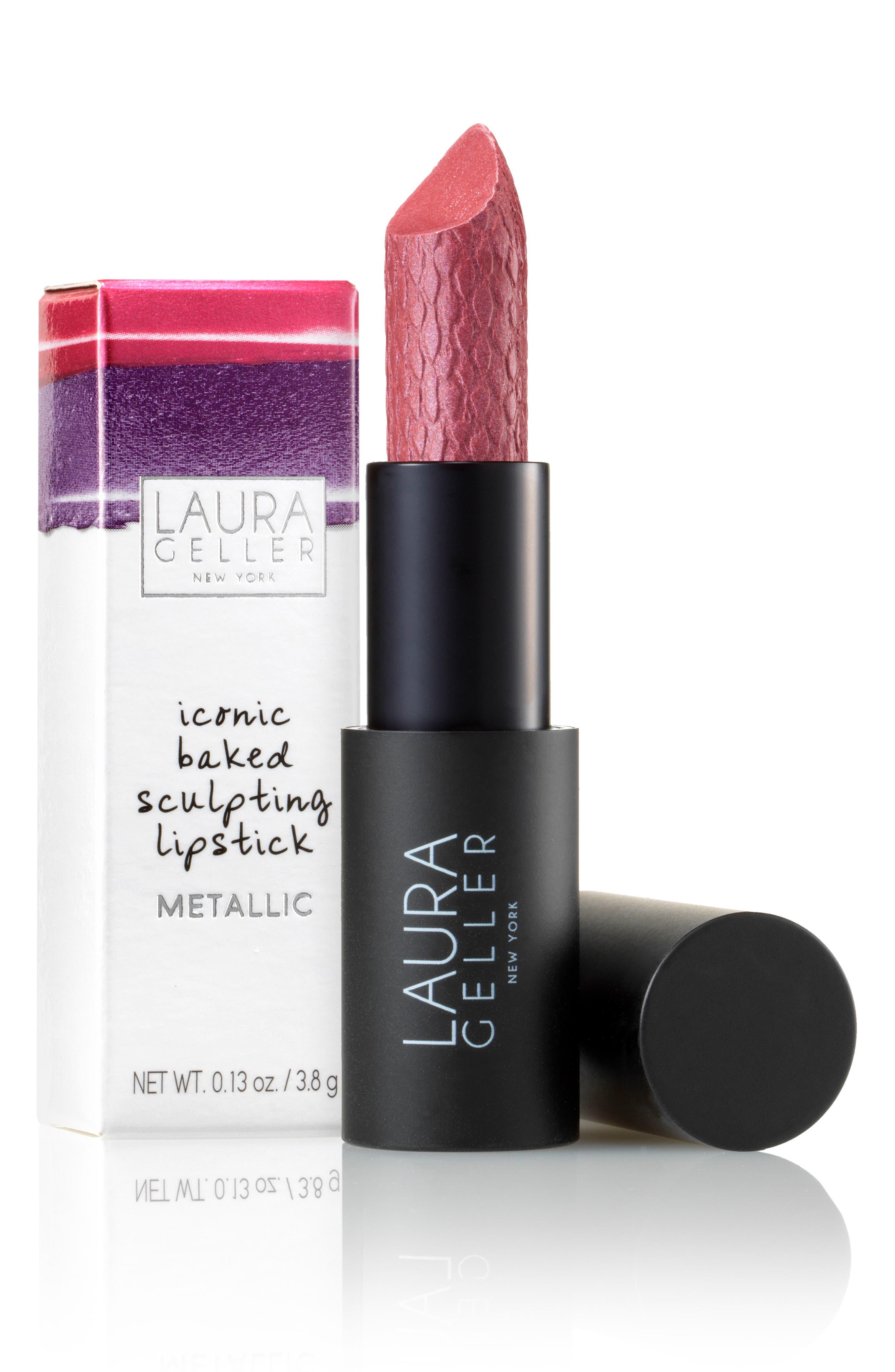 Iconic Baked Metallic Sculpting Lipstick,                             Alternate thumbnail 2, color,                             Astor Place Tulip