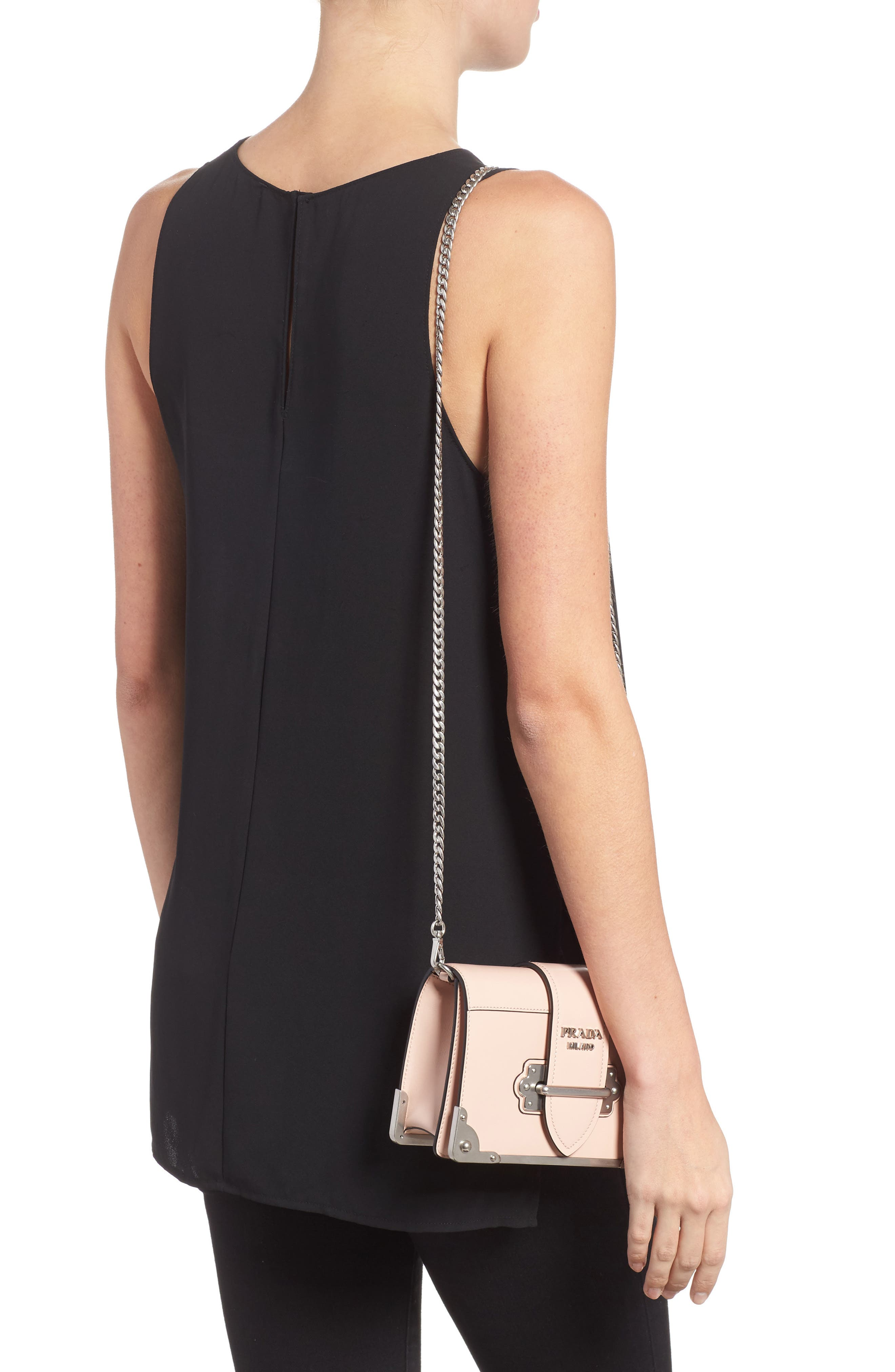 Alternate Image 2  - Prada Small Cahier Leather Shoulder Bag