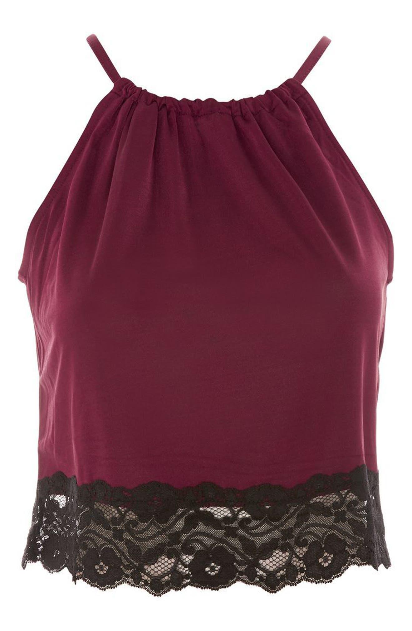 Alternate Image 4  - Topshop Satin & Lace Camisole