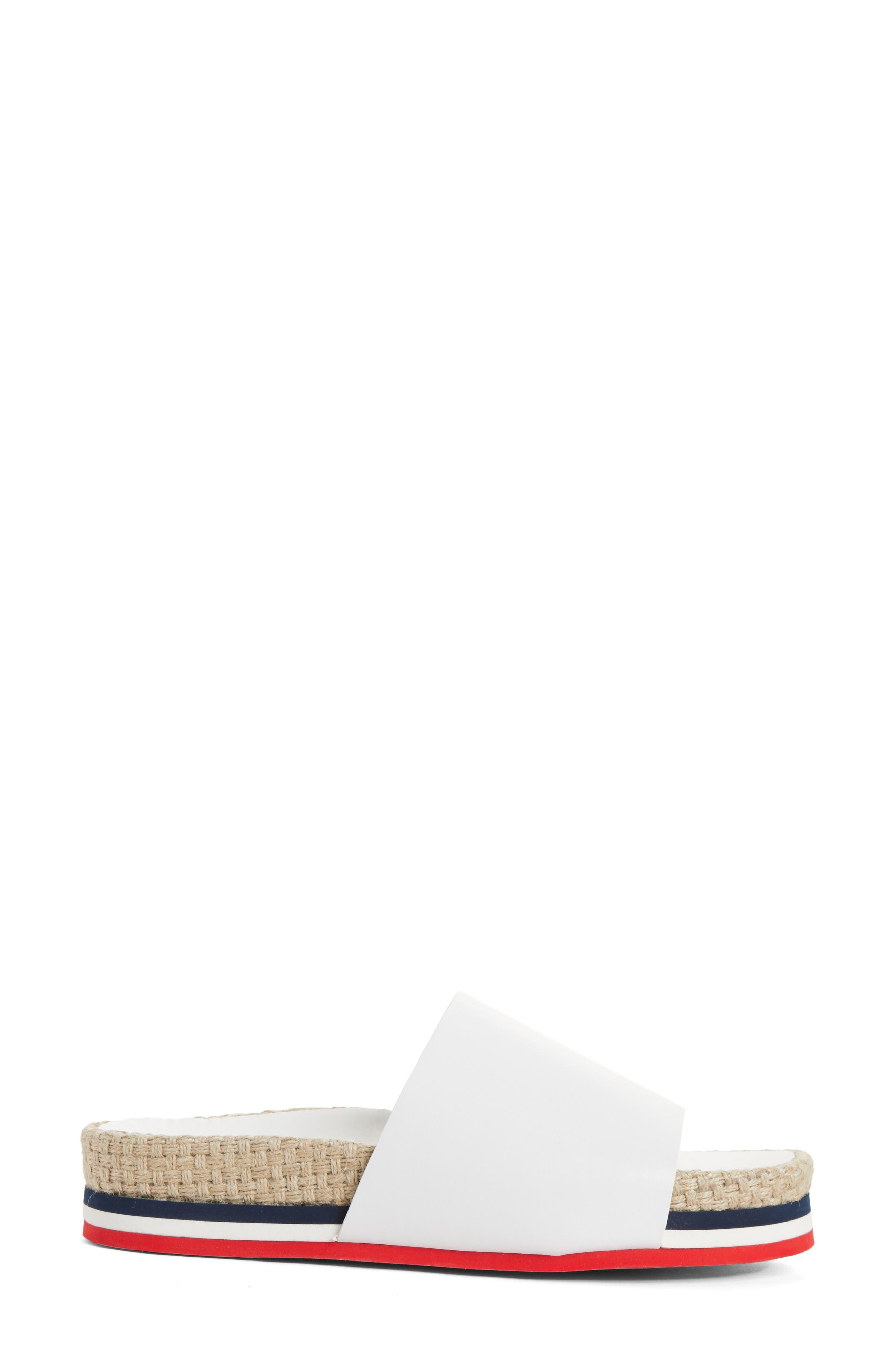 Evelyne Platform Slide,                             Alternate thumbnail 3, color,                             White