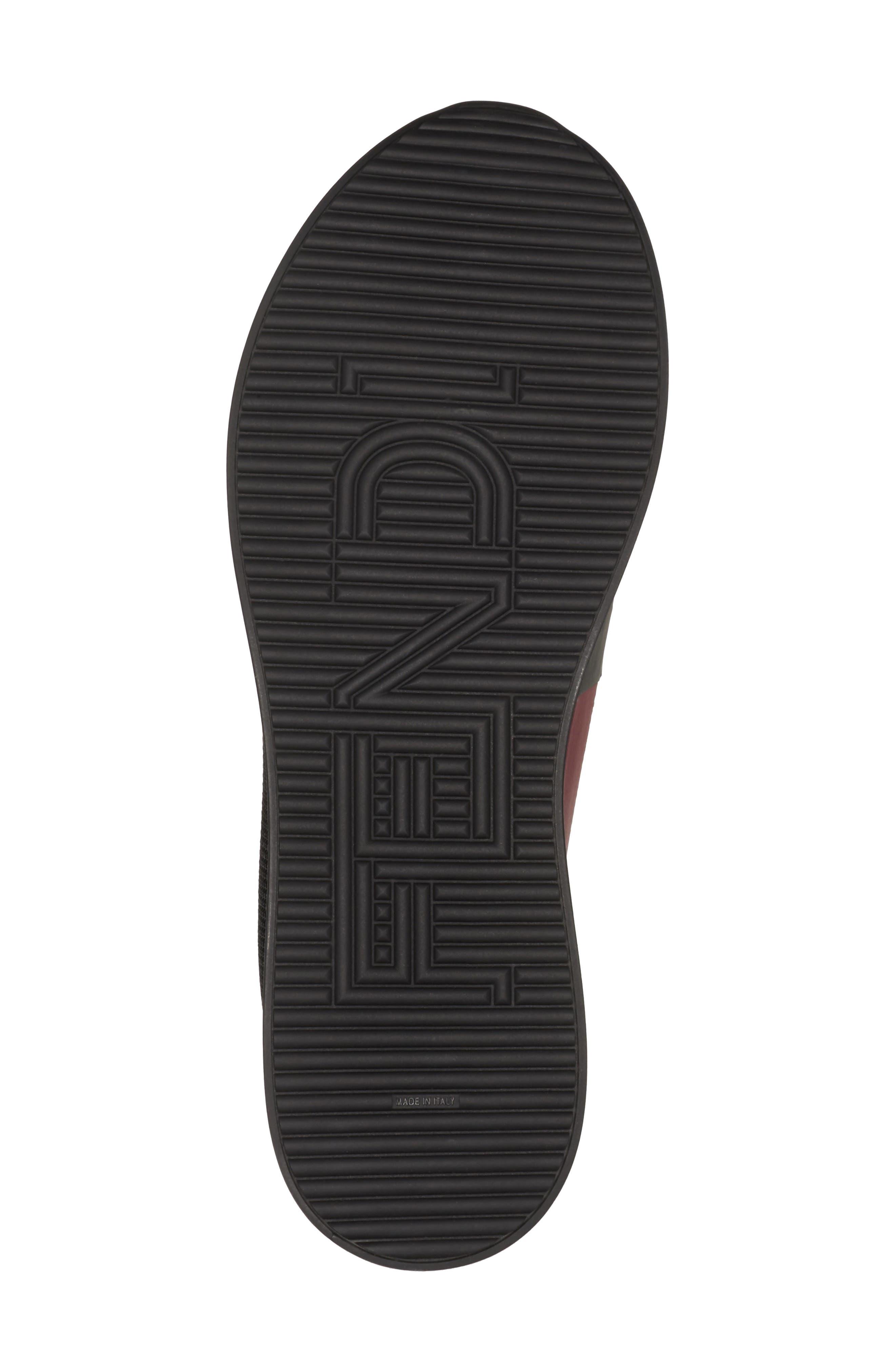 Logo Slip-On Sneaker,                             Alternate thumbnail 5, color,                             Black/ Red