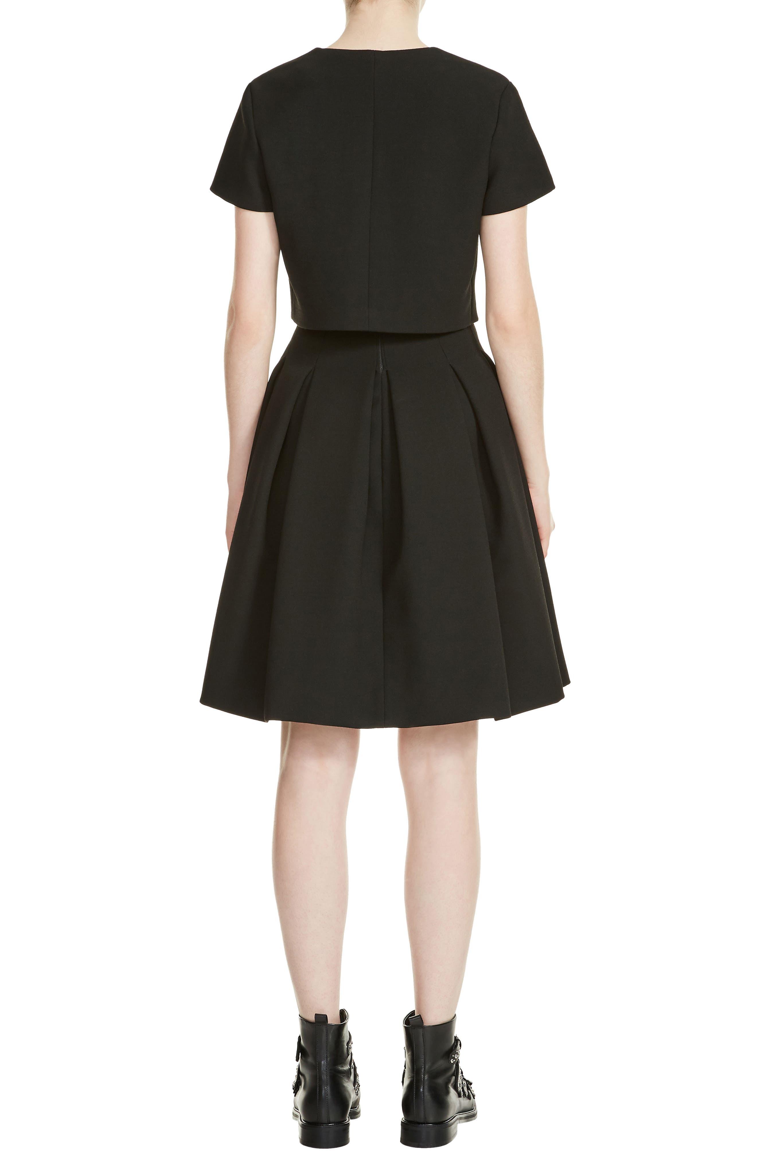 Rozane Popover Dress,                             Alternate thumbnail 2, color,                             Black 210