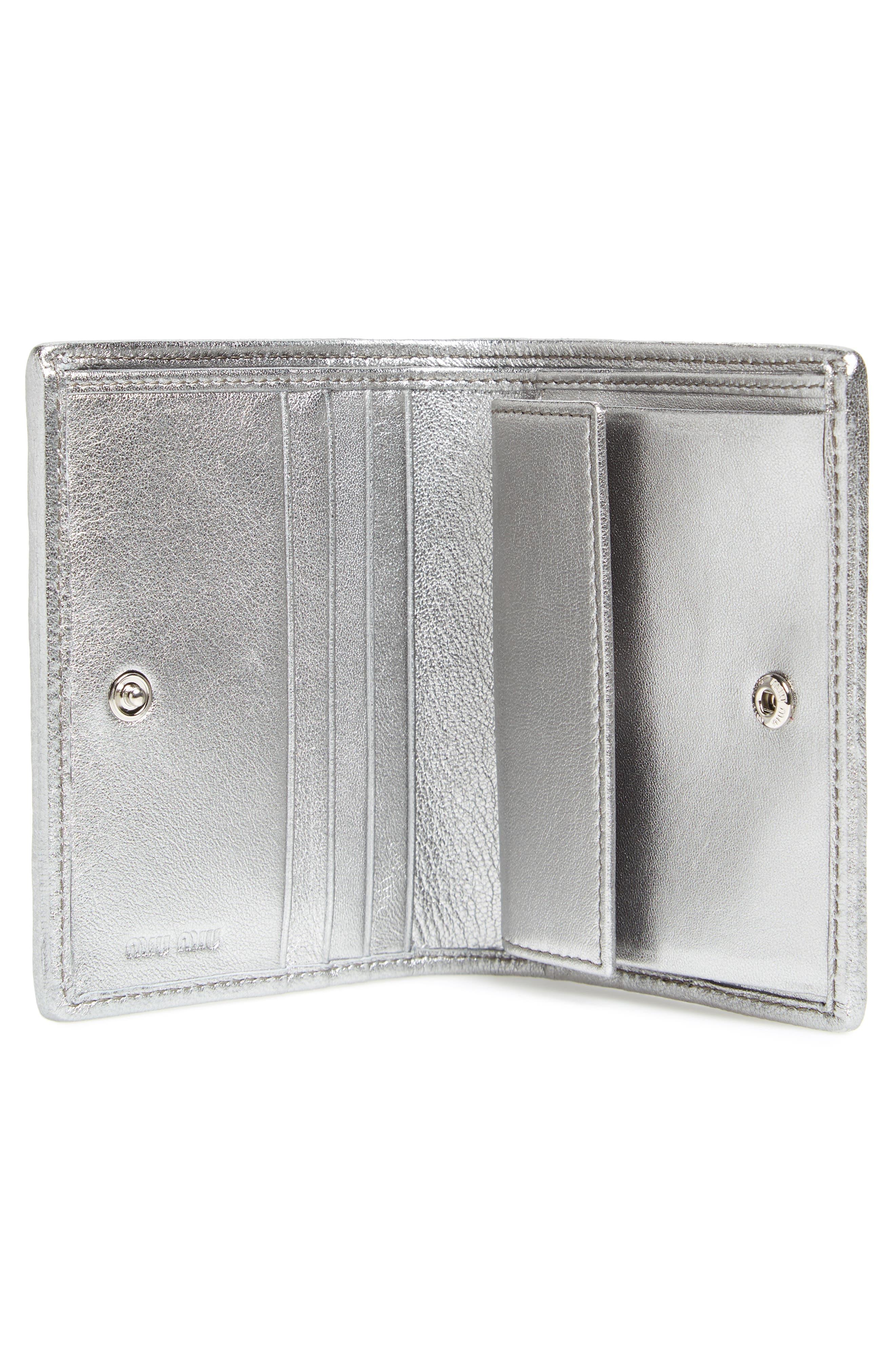 Alternate Image 2  - Miu Miu Embellished Logo Matelassé Leather Wallet