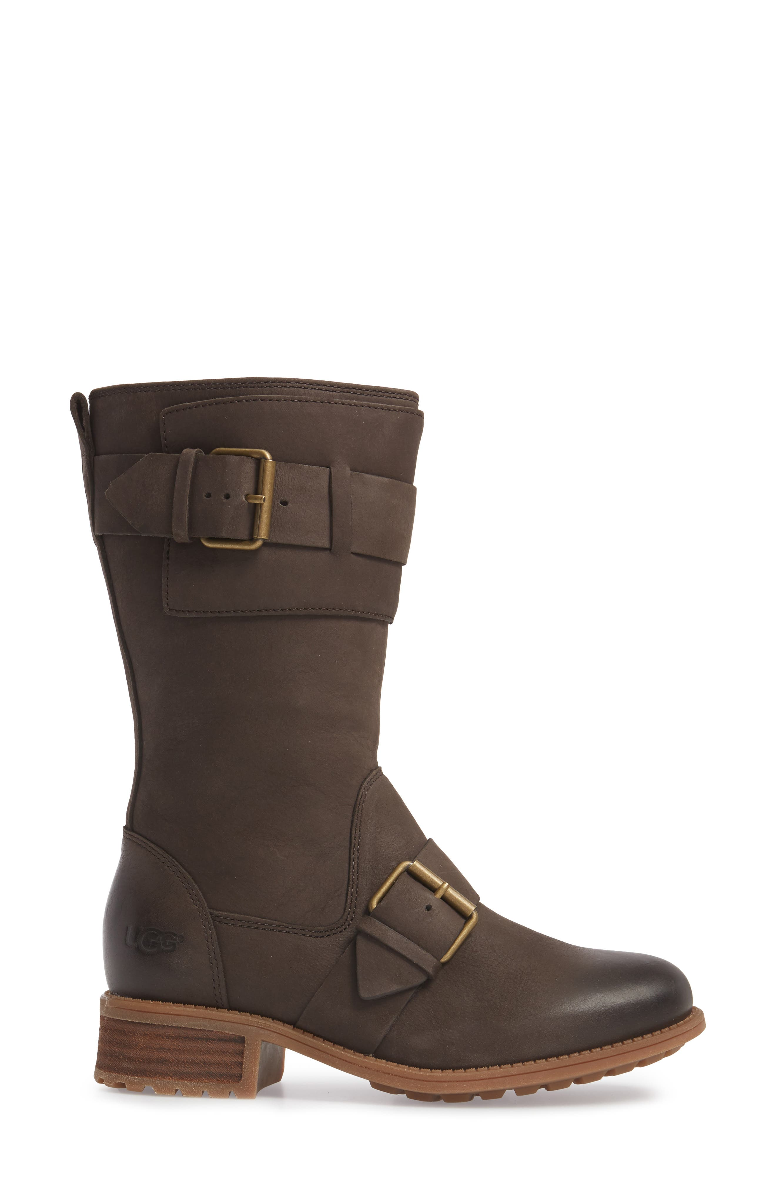 Chancey Moto Boot,                             Alternate thumbnail 3, color,                             Stout Leather