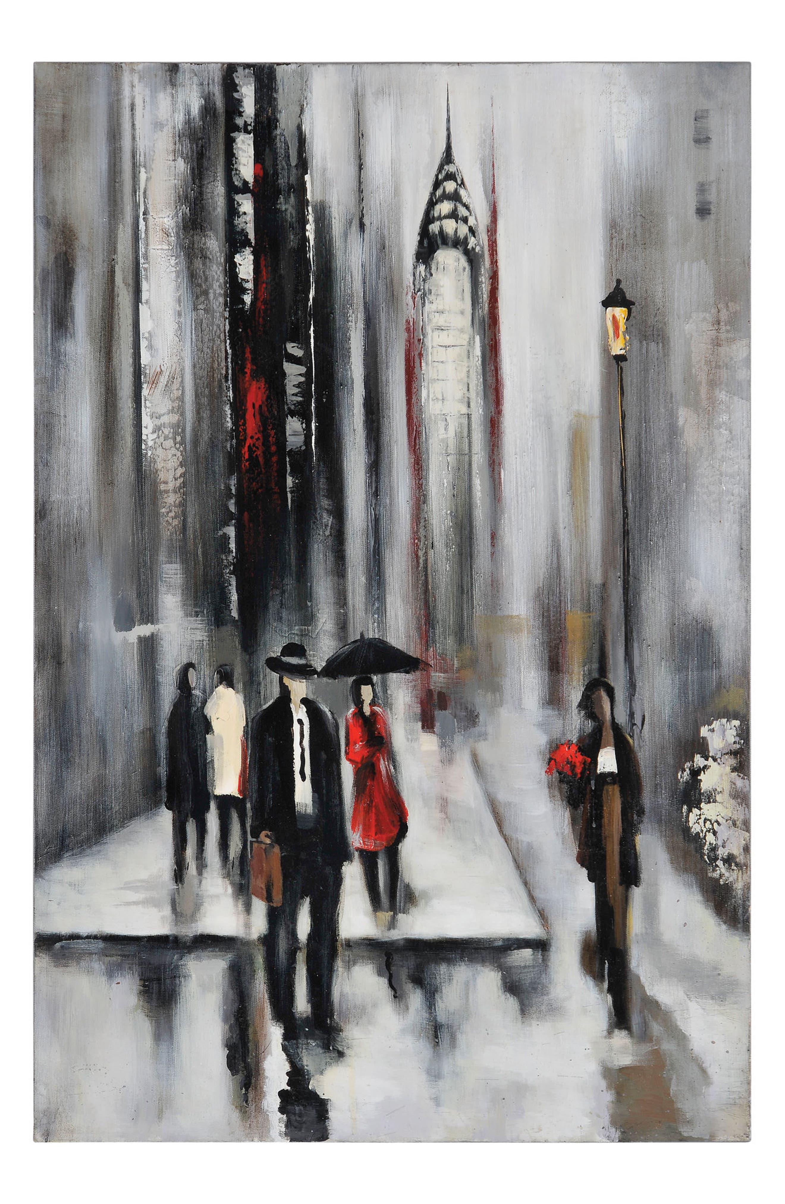 Renwil Bustling City II Canvas Art