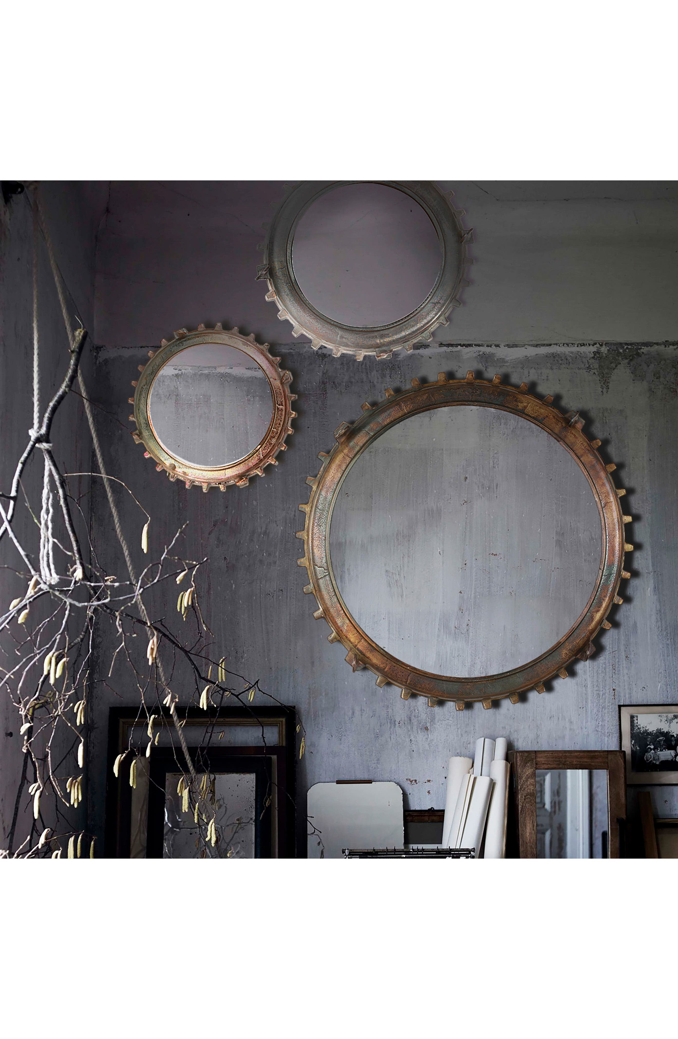 Neston Mirror,                             Alternate thumbnail 7, color,                             Copper/ Cobalt Blue/ Brass
