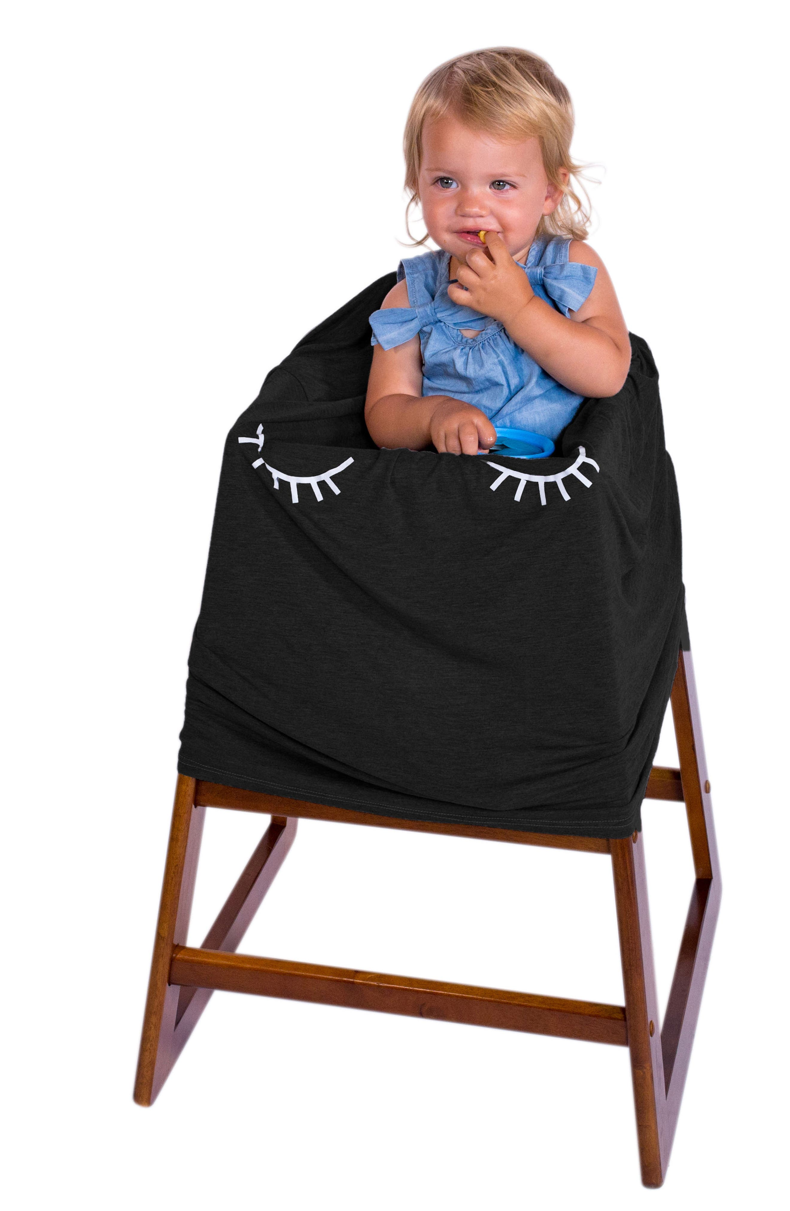 5-in-1 Car Seat Cover,                             Alternate thumbnail 8, color,                             Black Lashes