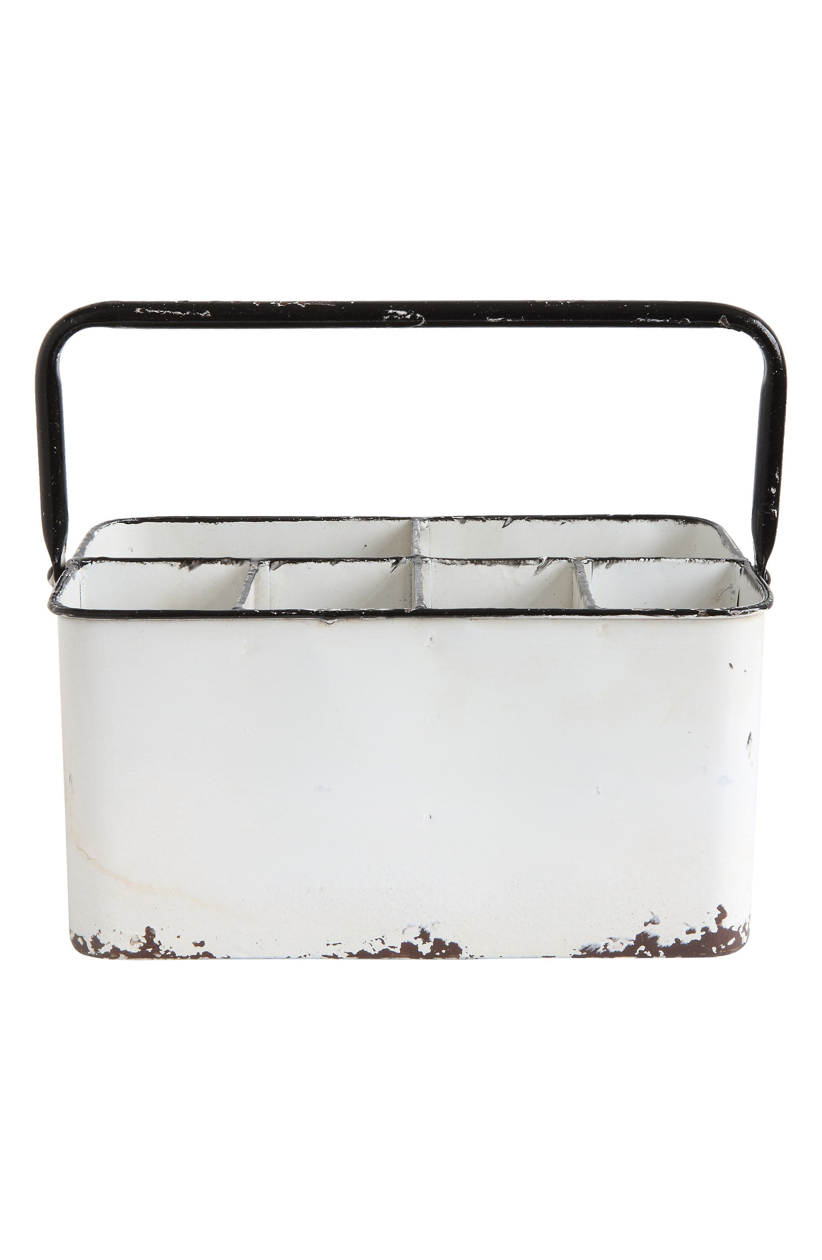 Metal Caddy,                         Main,                         color, White