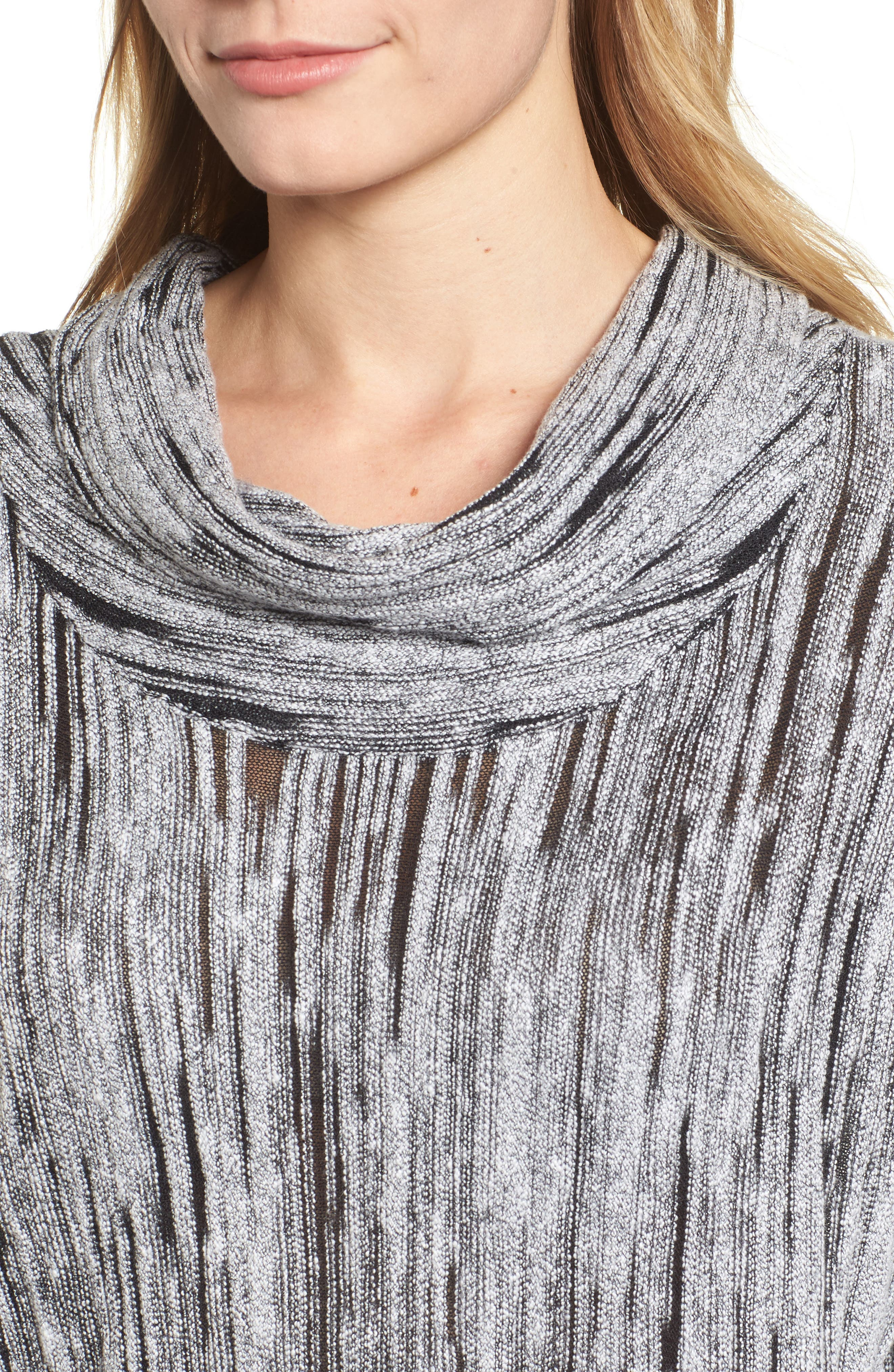 Alternate Image 4  - NIC+ZOE Cowl Neck Open Stitch Sweater