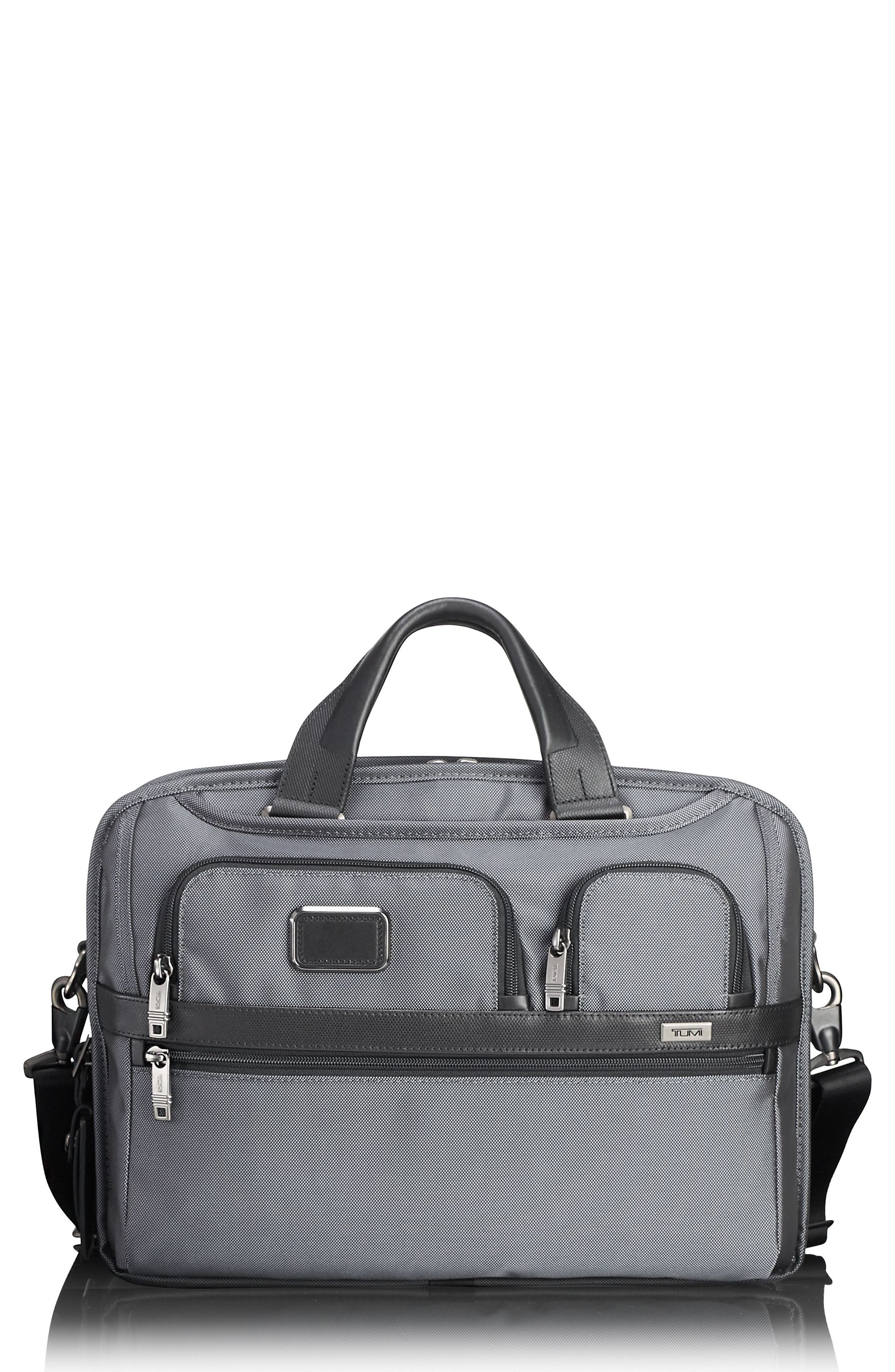 Alpha 2 - T-Pass<sup>™</sup> Briefcase,                             Main thumbnail 1, color,                             Pewter