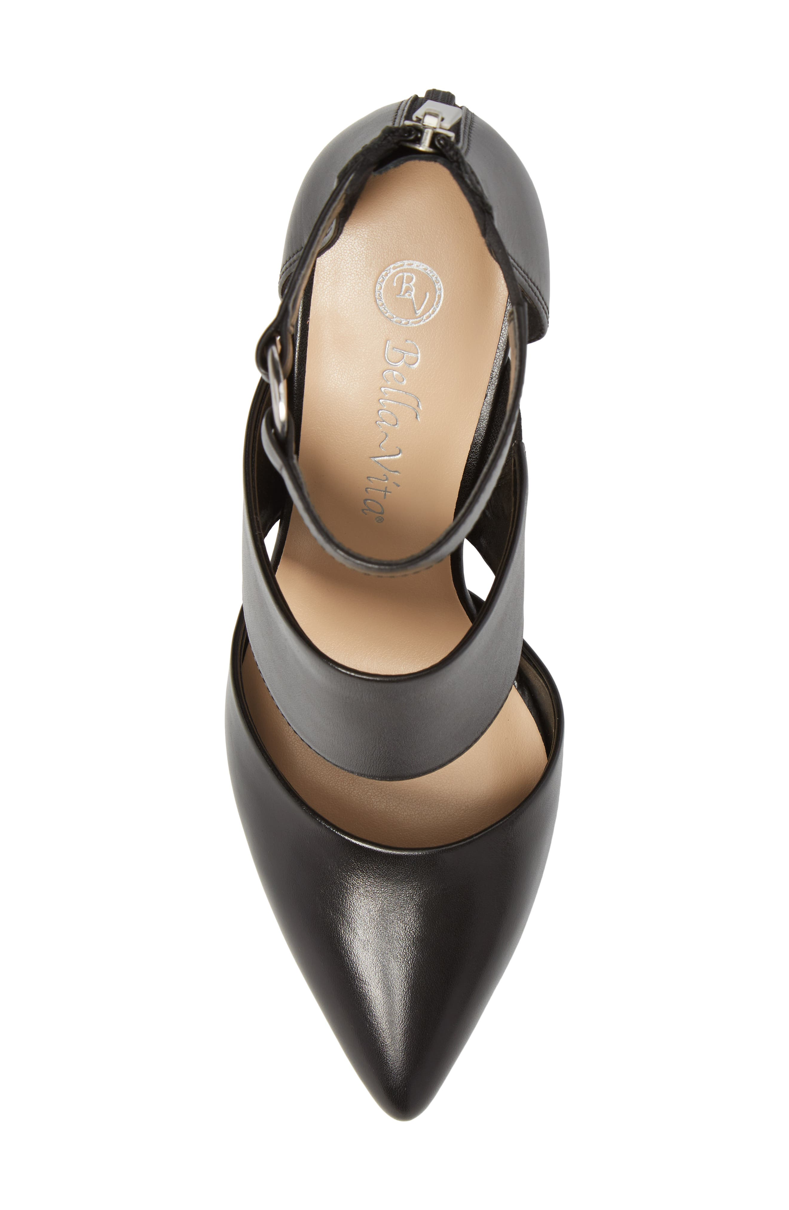 Diana Pump,                             Alternate thumbnail 5, color,                             Black Leather