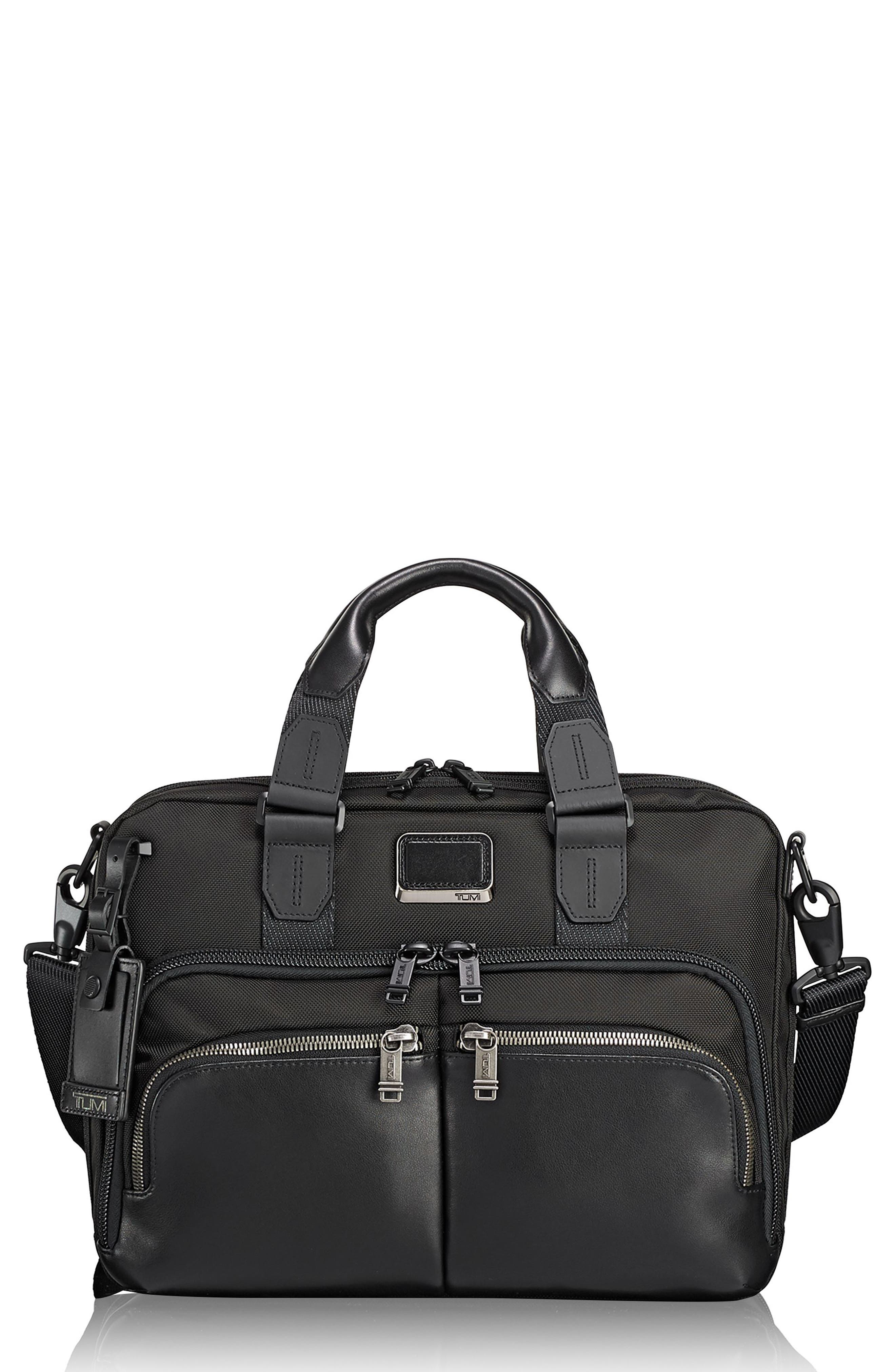 Alpha Bravo - Albany Slim Commuter Briefcase - Black