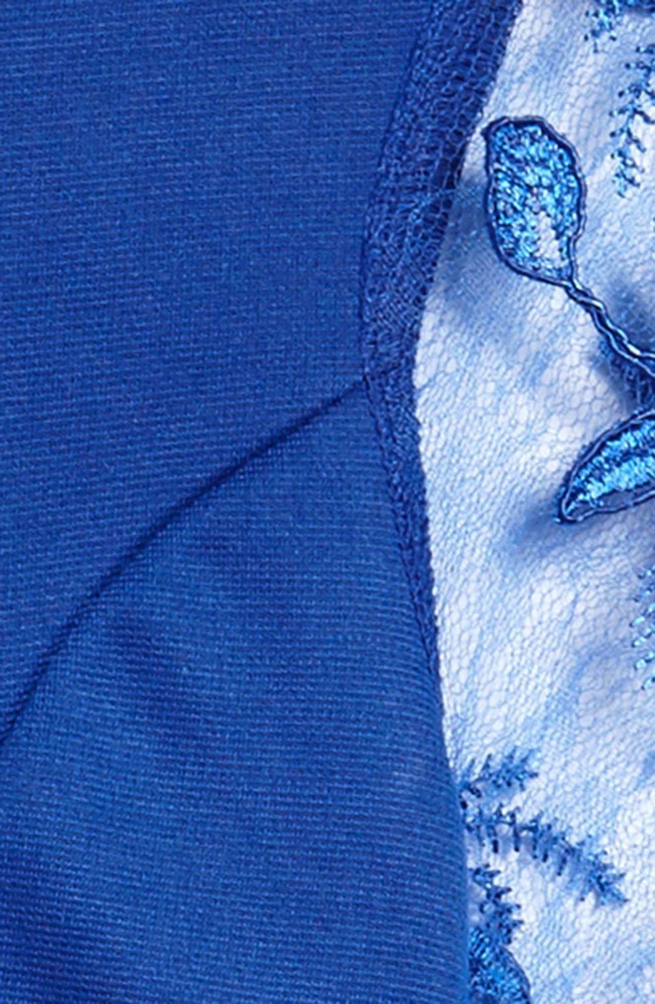 Priscilla Lace Sleeve Dress,                             Alternate thumbnail 3, color,                             Royal