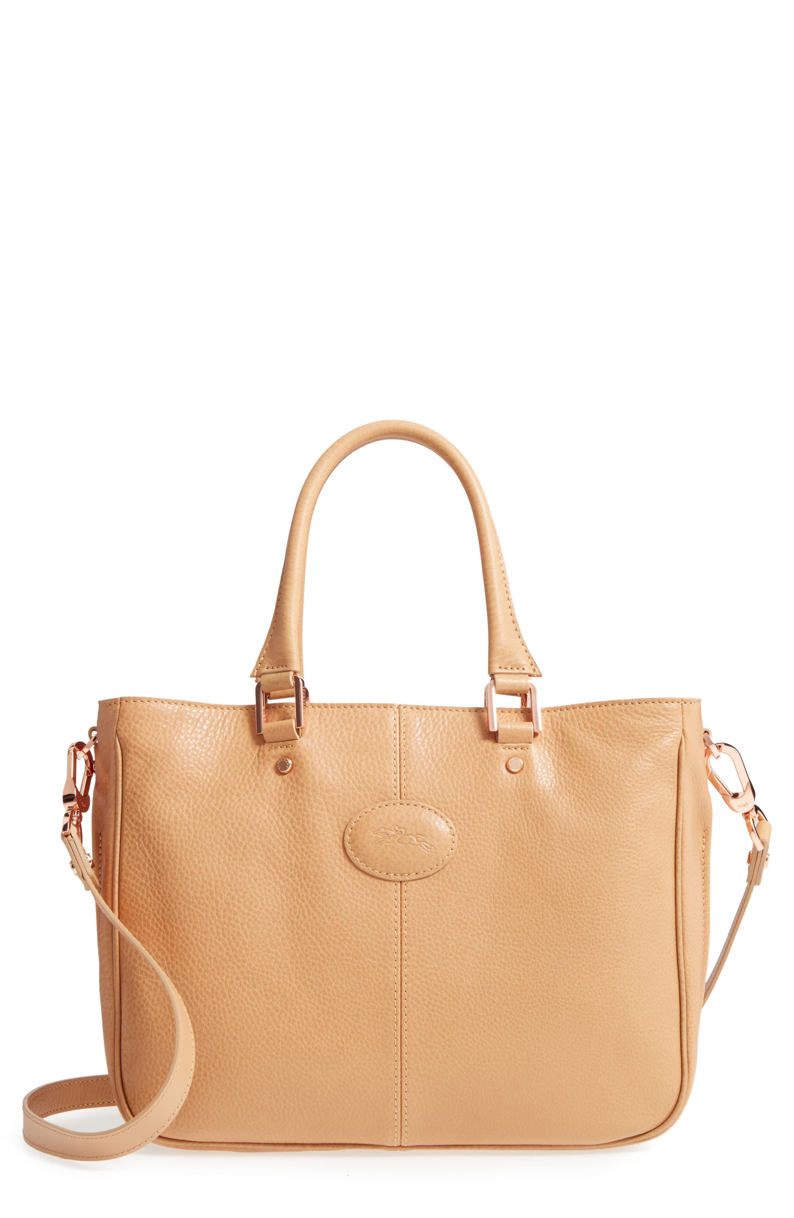 Longchamp Mystery Leather Satchel