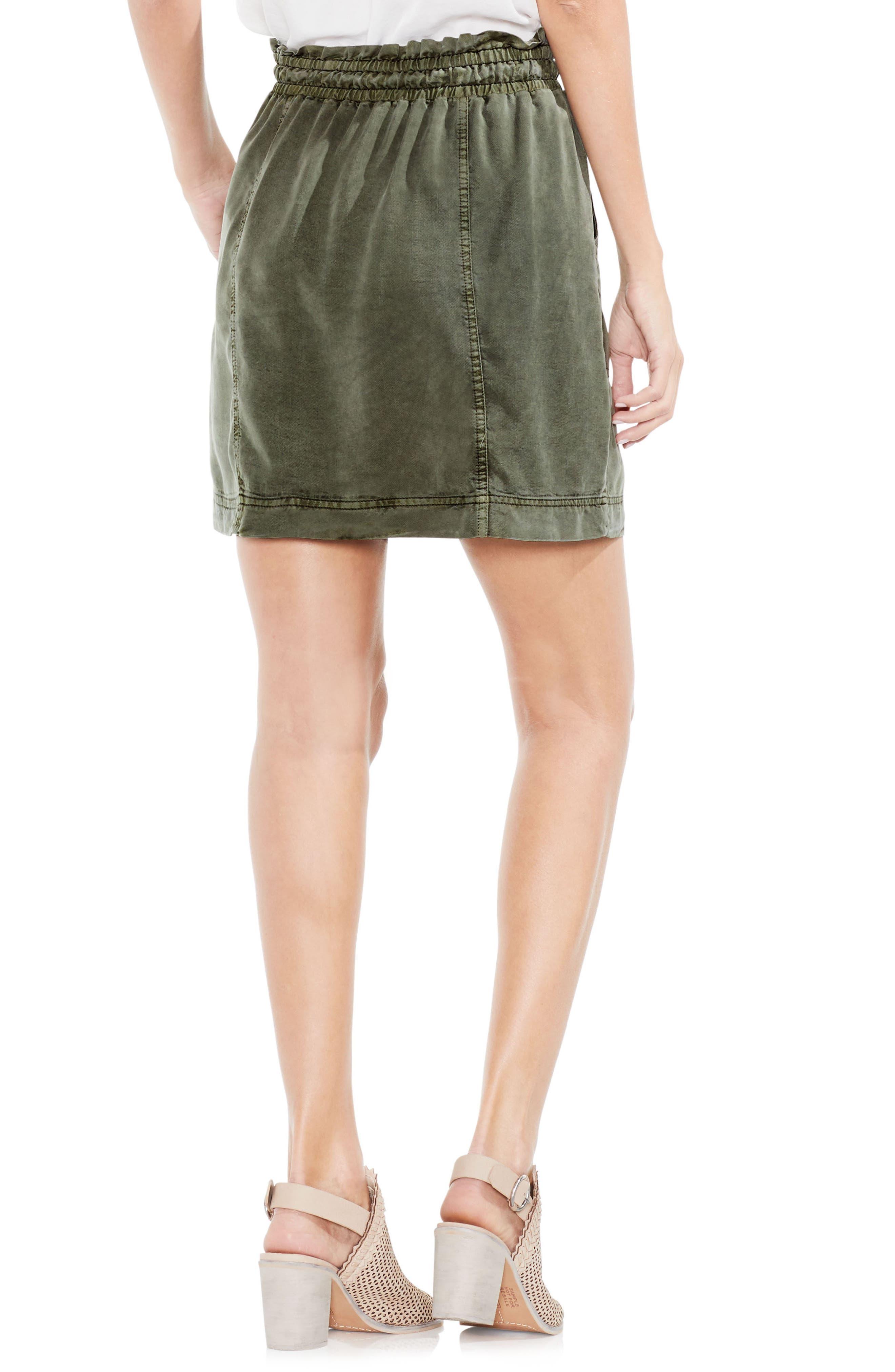 Alternate Image 2  - Vince Camuto Drawstring Waist Tencel® Skirt