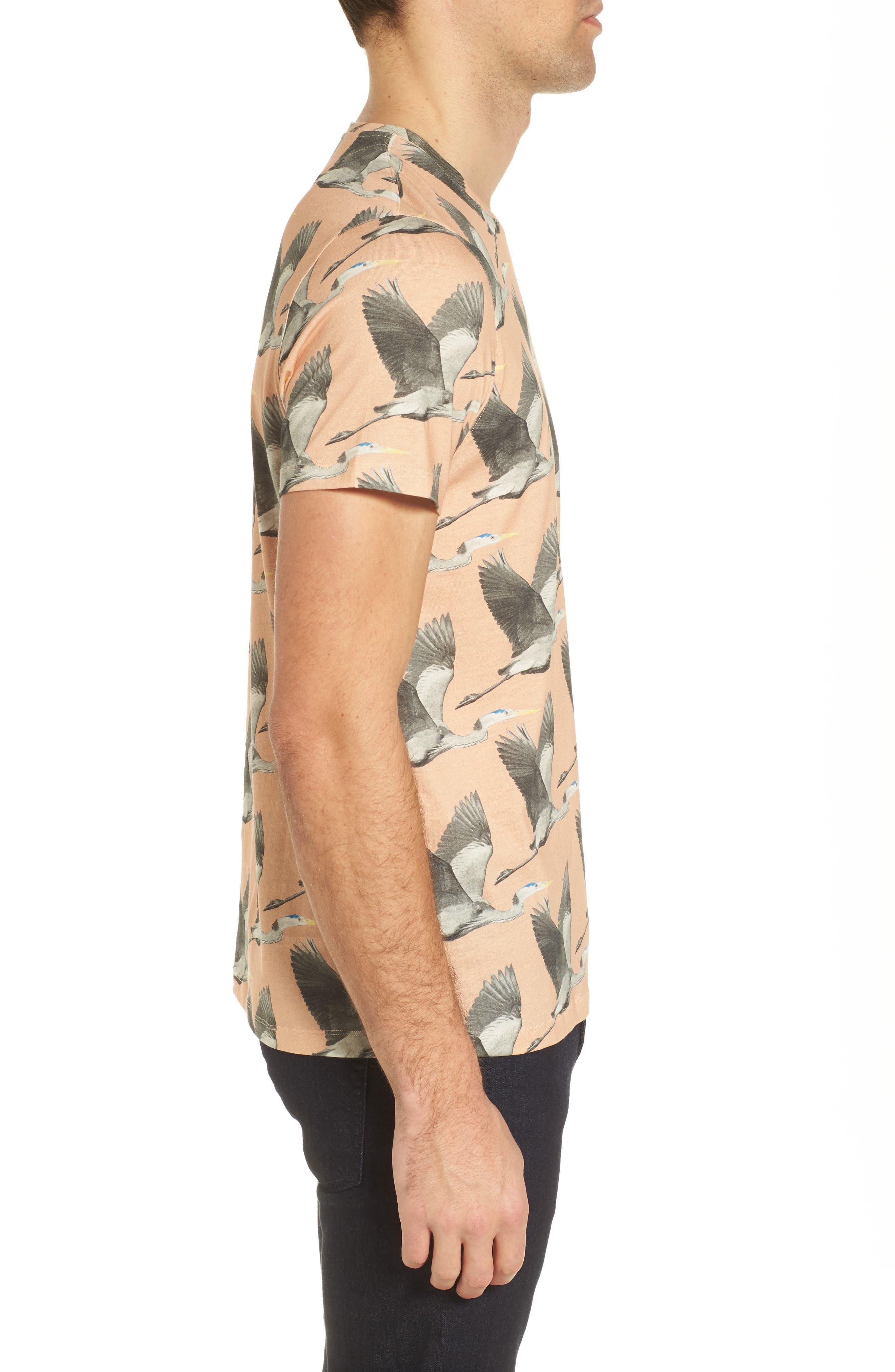 Alternate Image 3  - Ted Baker London Flute Blue Heron Print T-Shirt