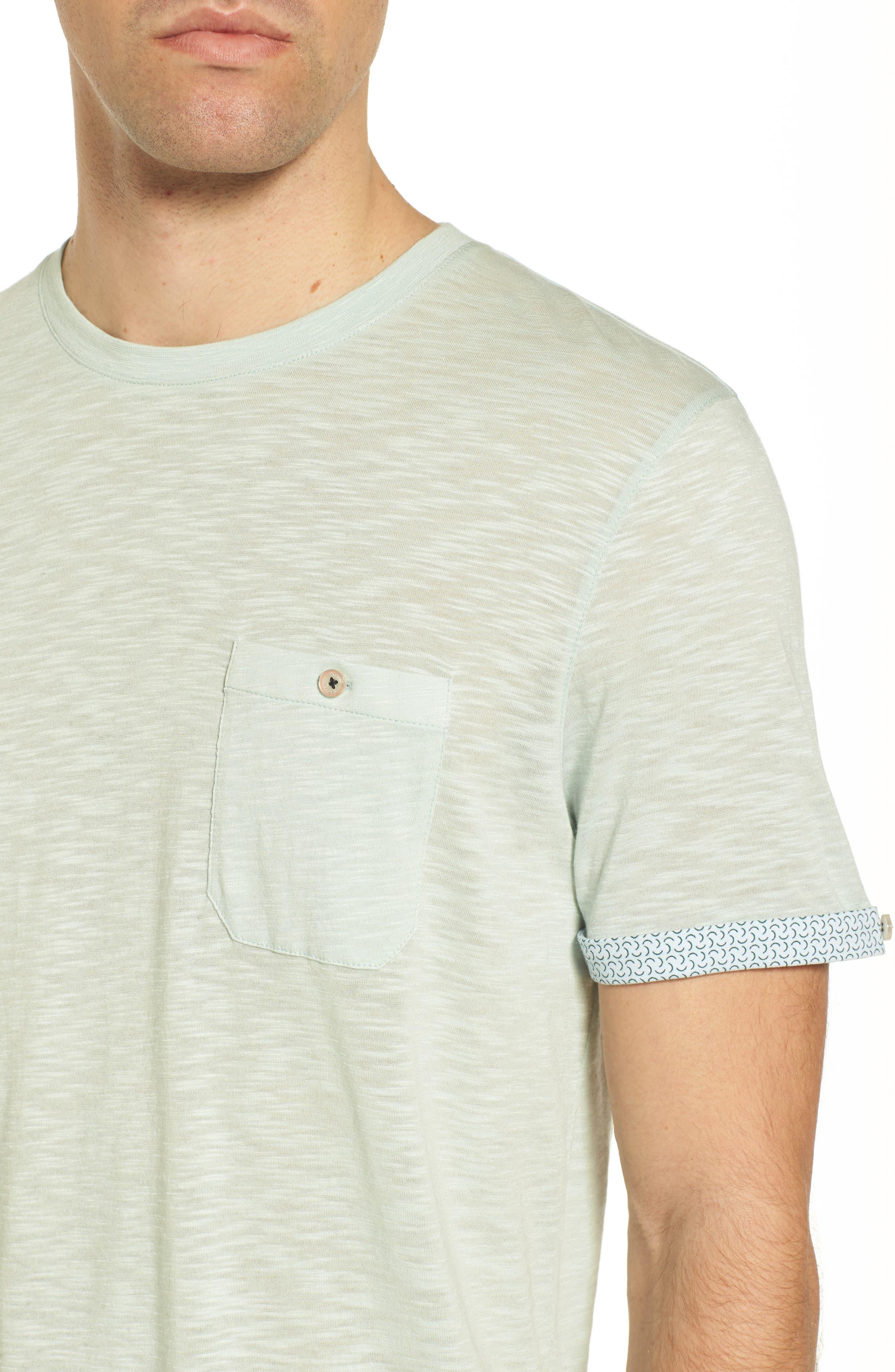 Alternate Image 4  - Ted Baker London Taxi Slub Cotton Pocket T-Shirt