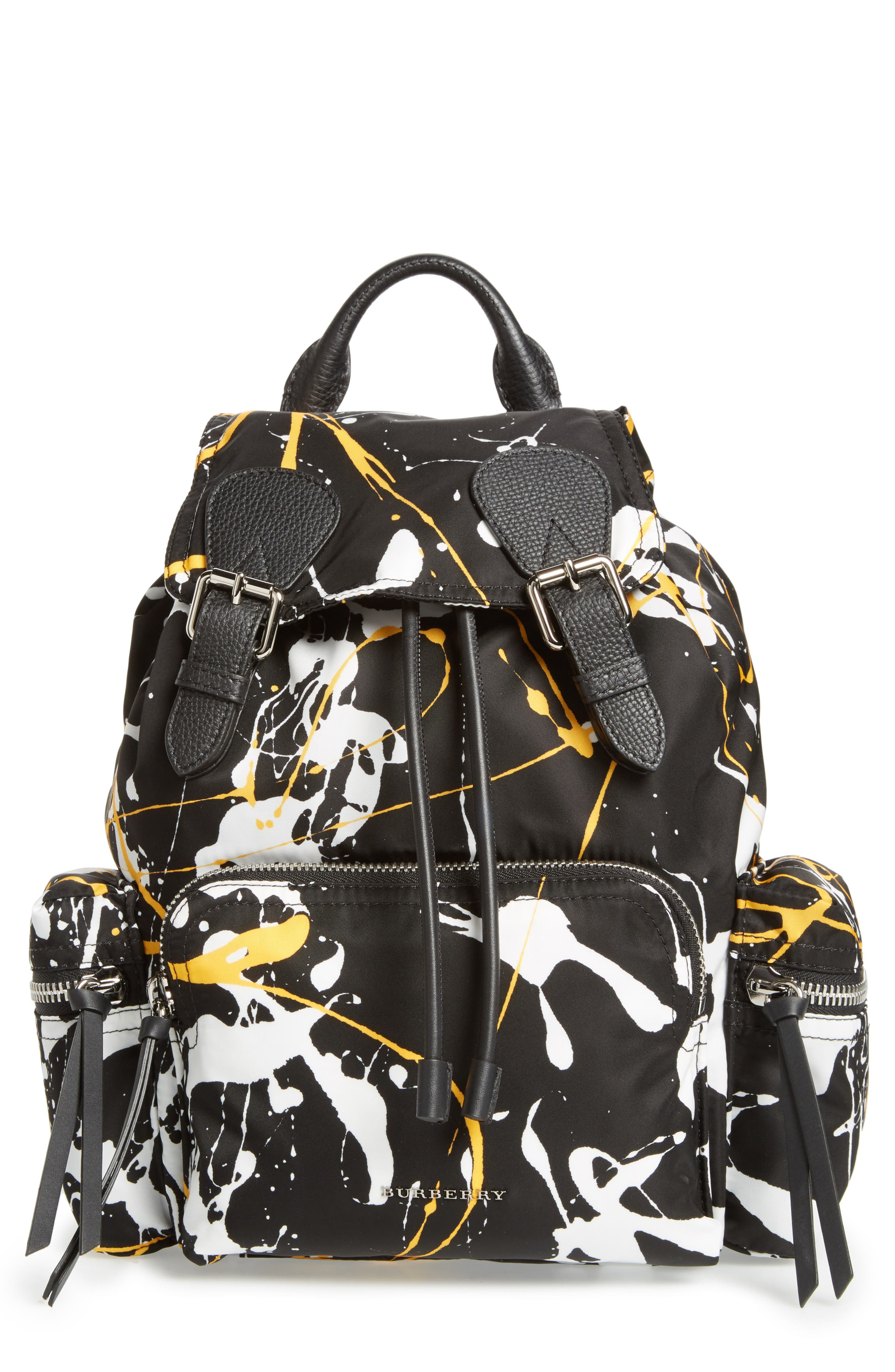 Burberry Medium Rucksack Splash Print Nylon Backpack