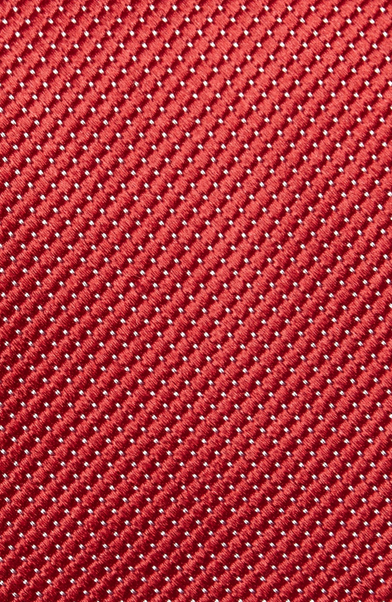 Vendôme Dot Silk Tie,                             Alternate thumbnail 2, color,                             Red