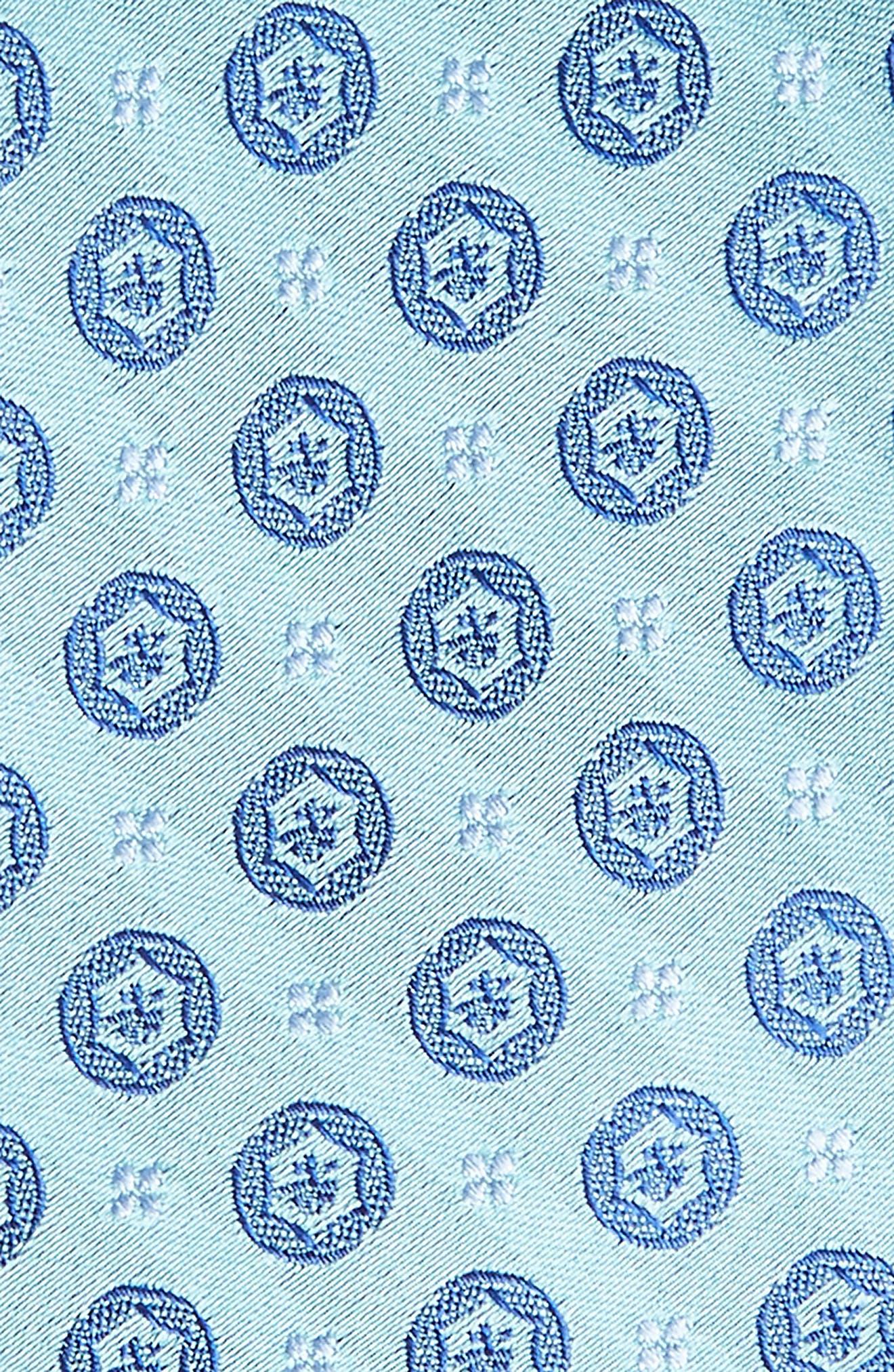 Modern Medallion Silk Skinny Tie,                             Alternate thumbnail 2, color,                             Green