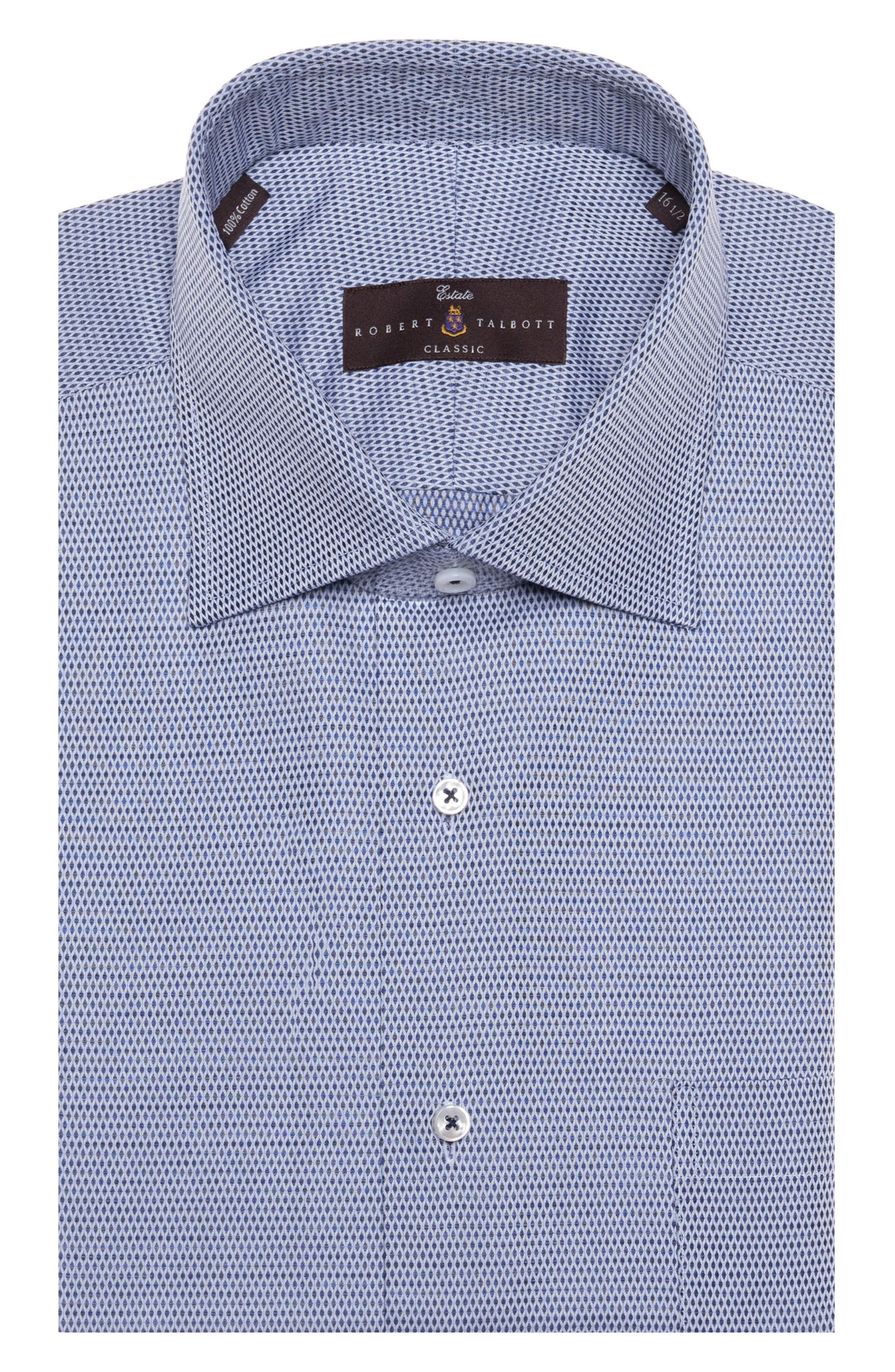 Tailored Fit Geometric Dress Shirt,                             Main thumbnail 1, color,                             Midnight