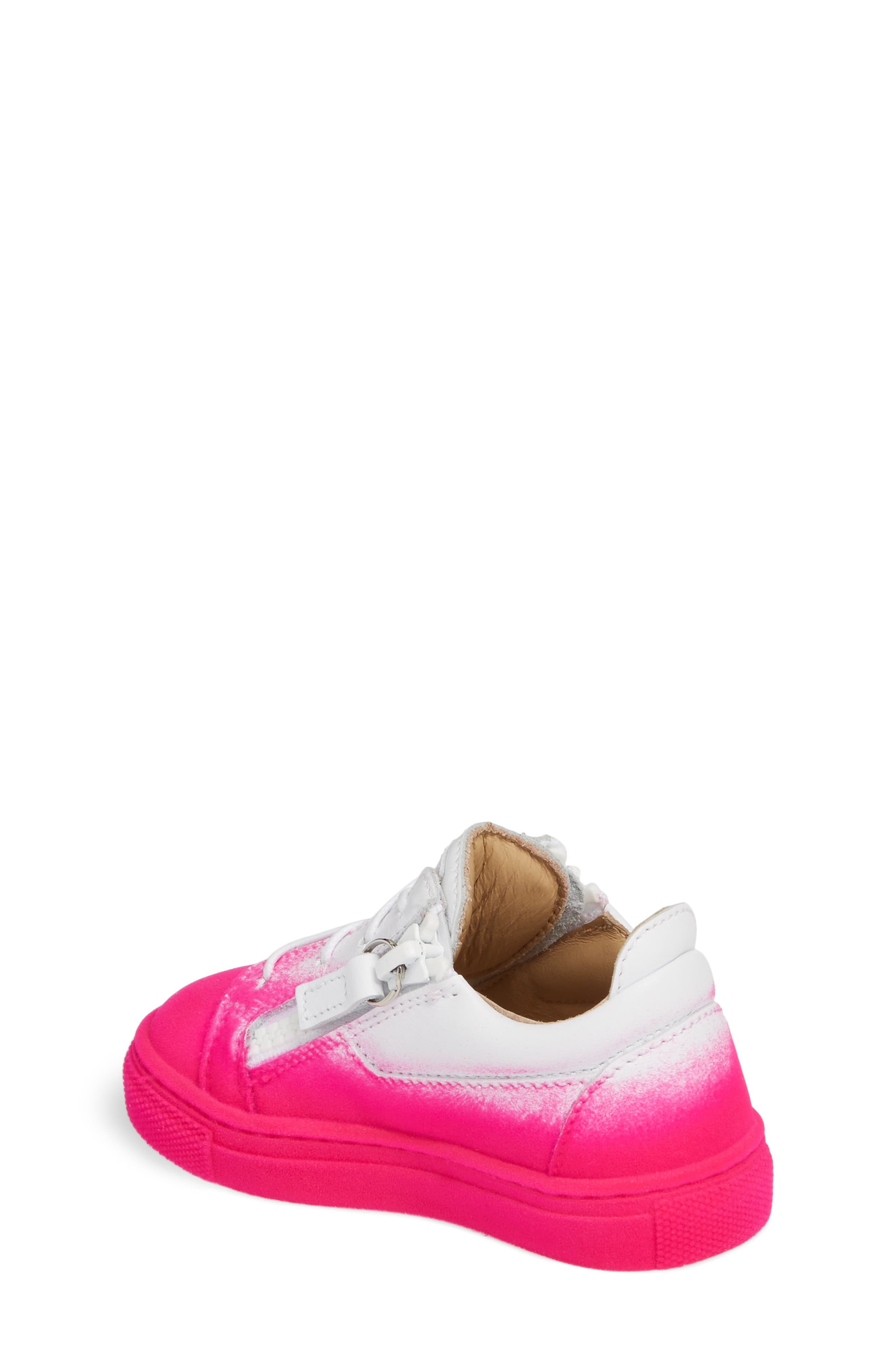 Alternate Image 2  - Giuseppe Zanotti Smuggy Ombré Flocked Sneaker (Baby, Walker, Toddler & Little Kid)