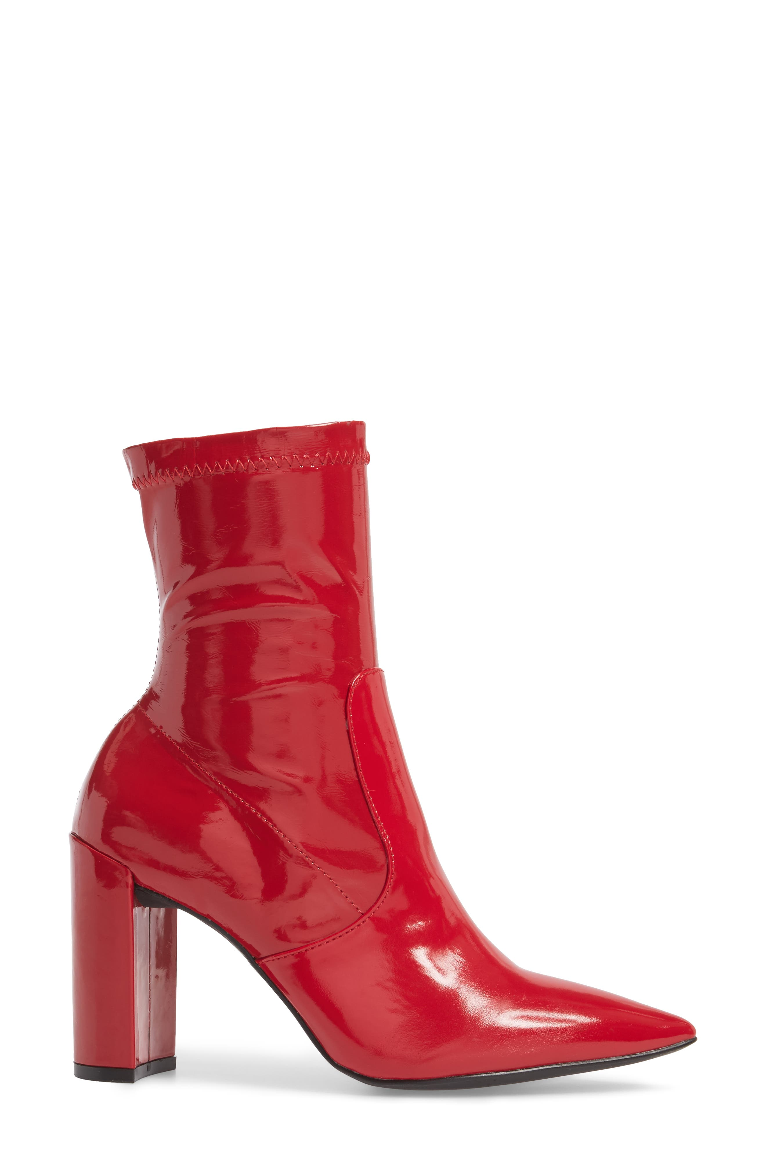 Raine Boot,                             Alternate thumbnail 3, color,                             Red Patent
