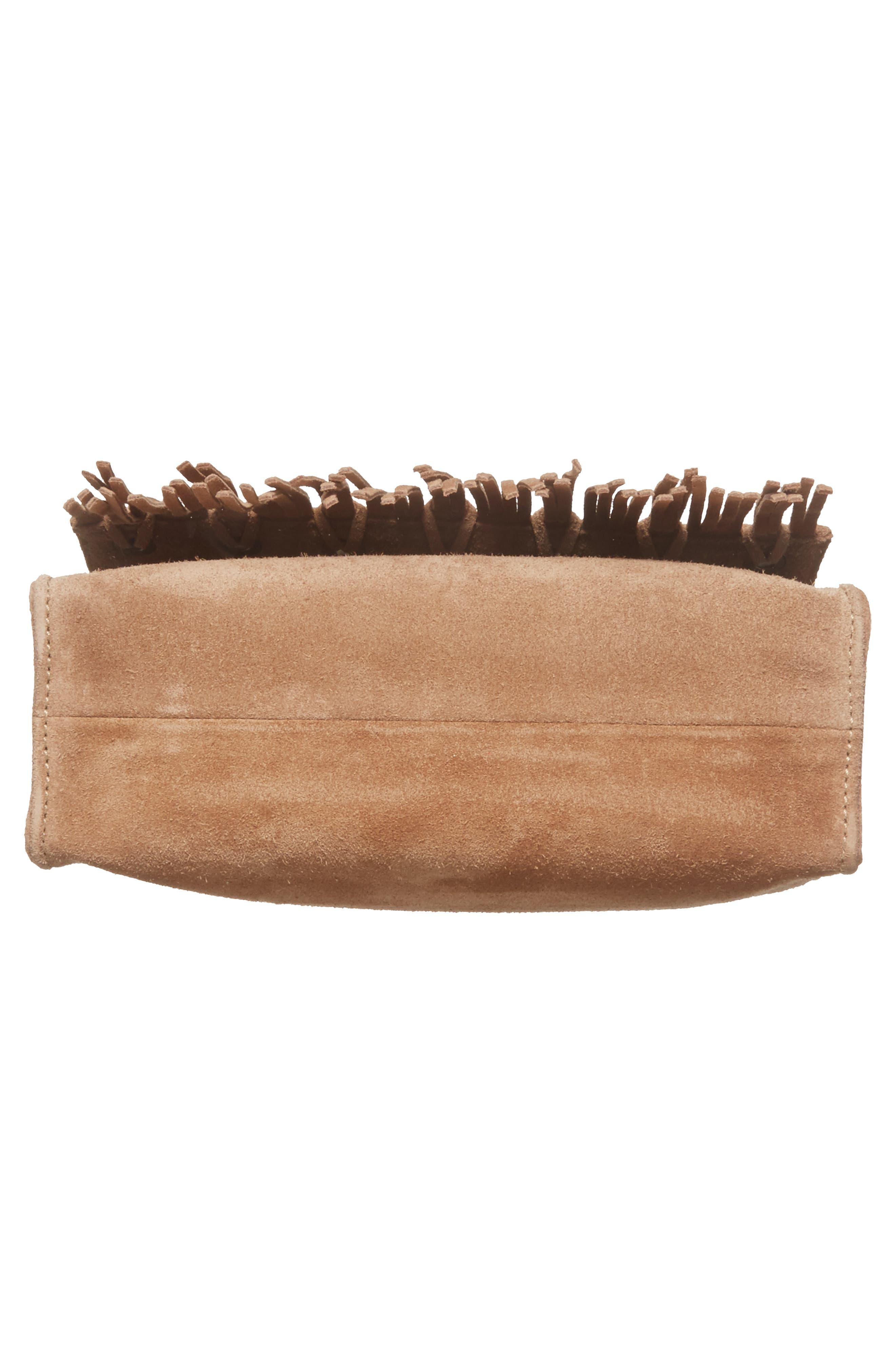 Alternate Image 6  - Longchamp Paris Rocks Fringe Calfskin Suede Crossbody Bag