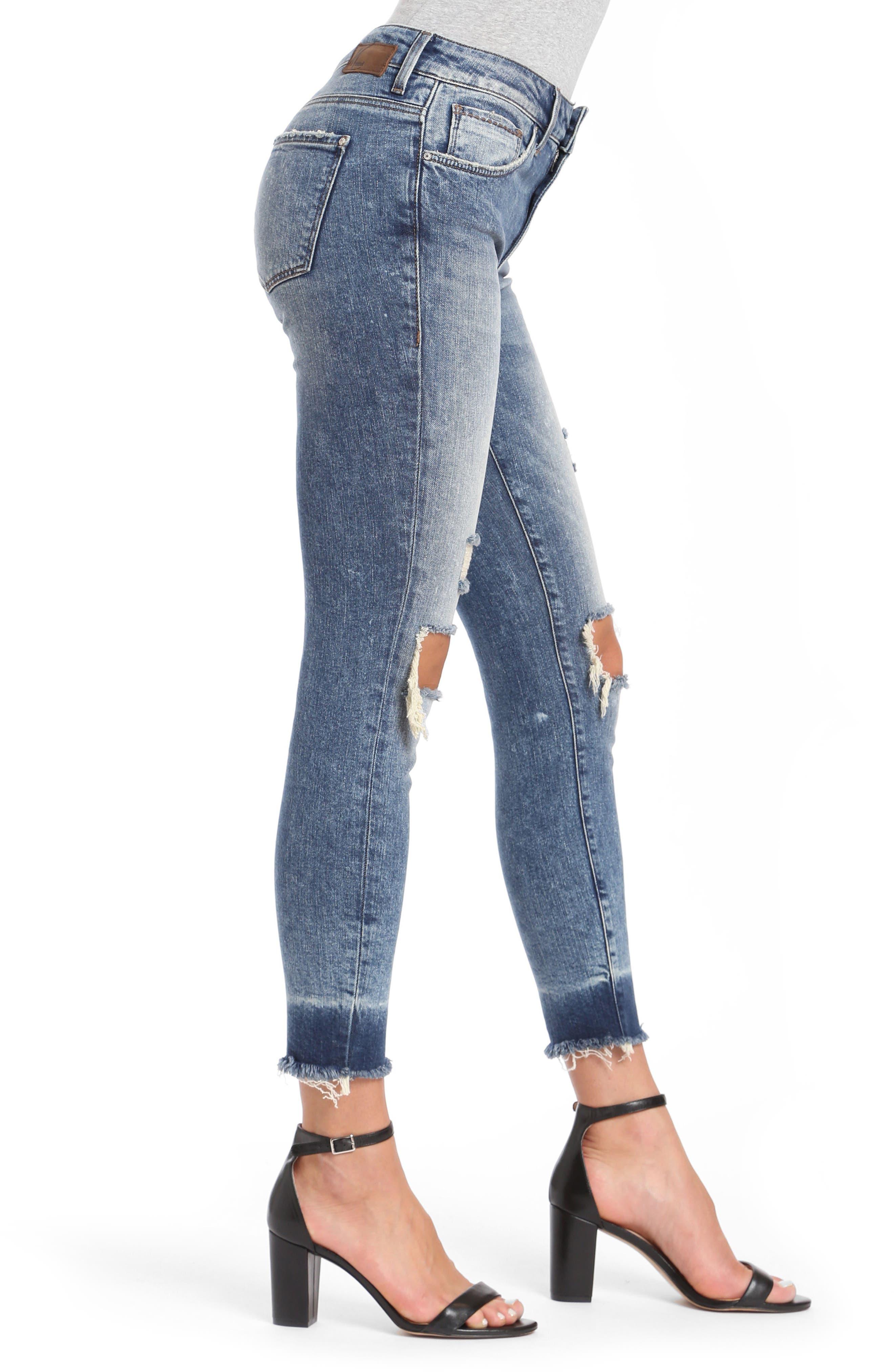 Tess Super Skinny Jeans,                             Alternate thumbnail 3, color,                             Ripped Vintage