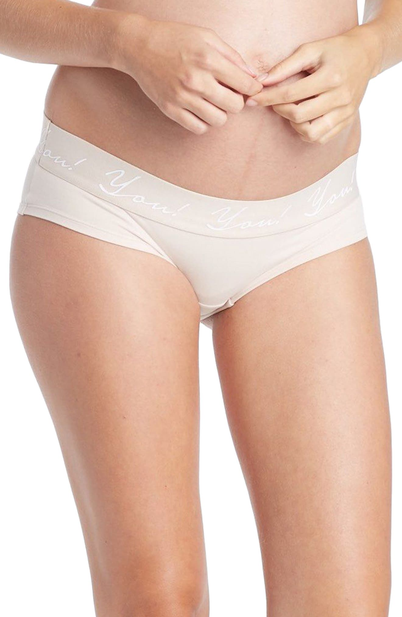 You! Lingerie Ziva Maternity Hipster,                         Main,                         color, Nude